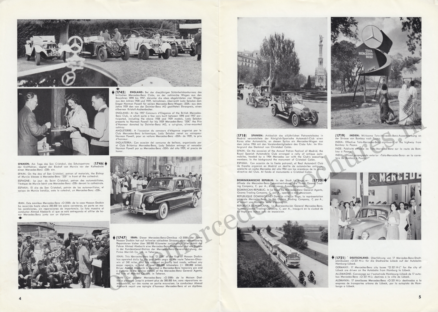 (REVISTA): Periódico In aller welt n.º 13 - Mercedes-Benz no mundo - 1957 - multilingue 003