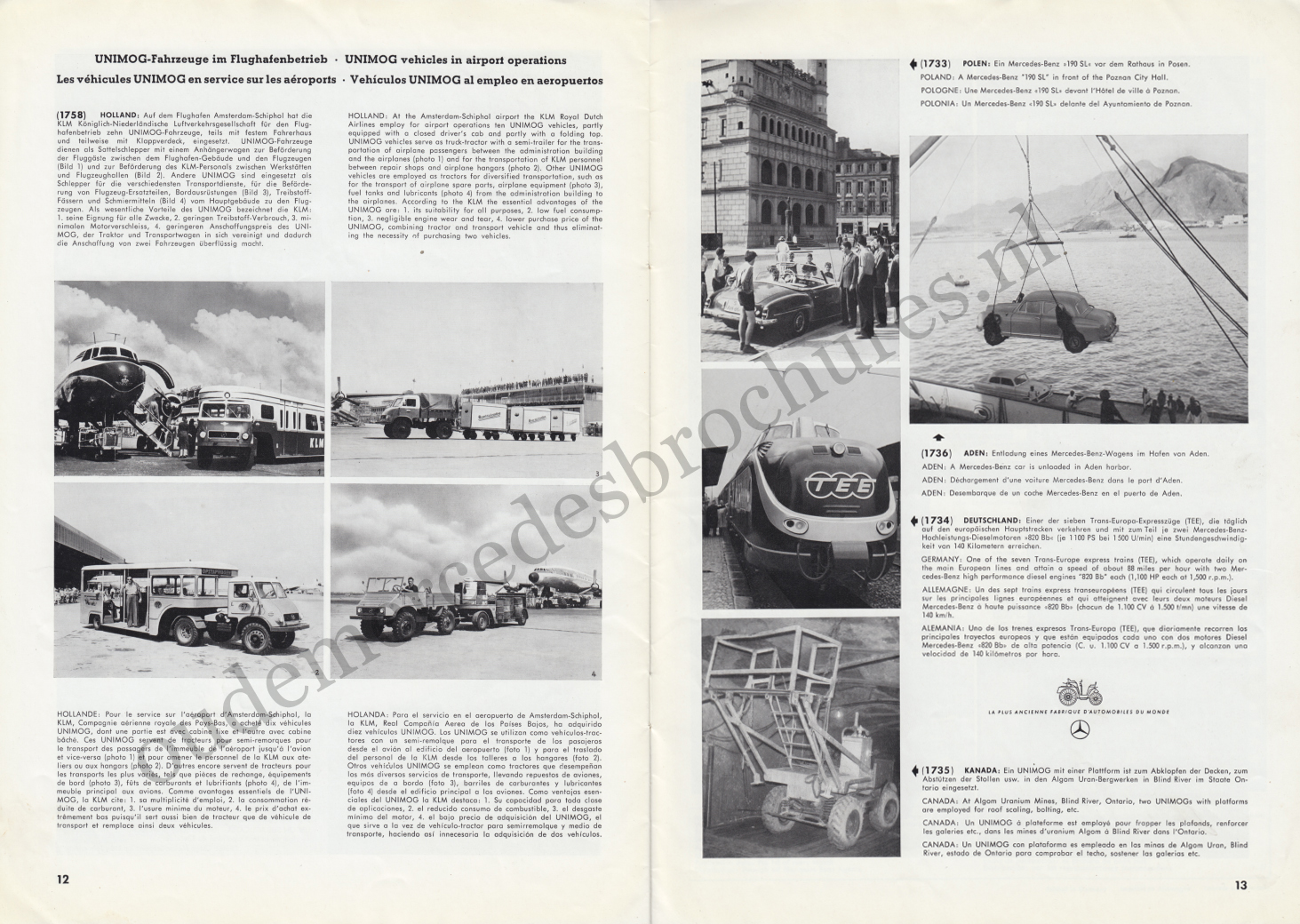 (REVISTA): Periódico In aller welt n.º 13 - Mercedes-Benz no mundo - 1957 - multilingue 007