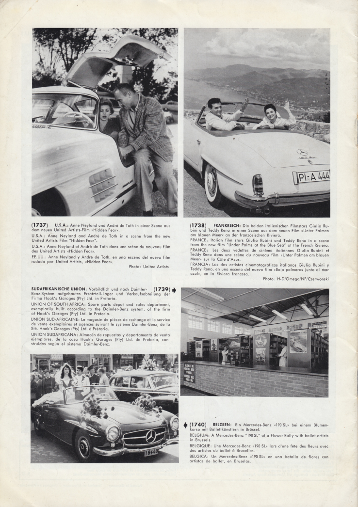 (REVISTA): Periódico In aller welt n.º 13 - Mercedes-Benz no mundo - 1957 - multilingue 009