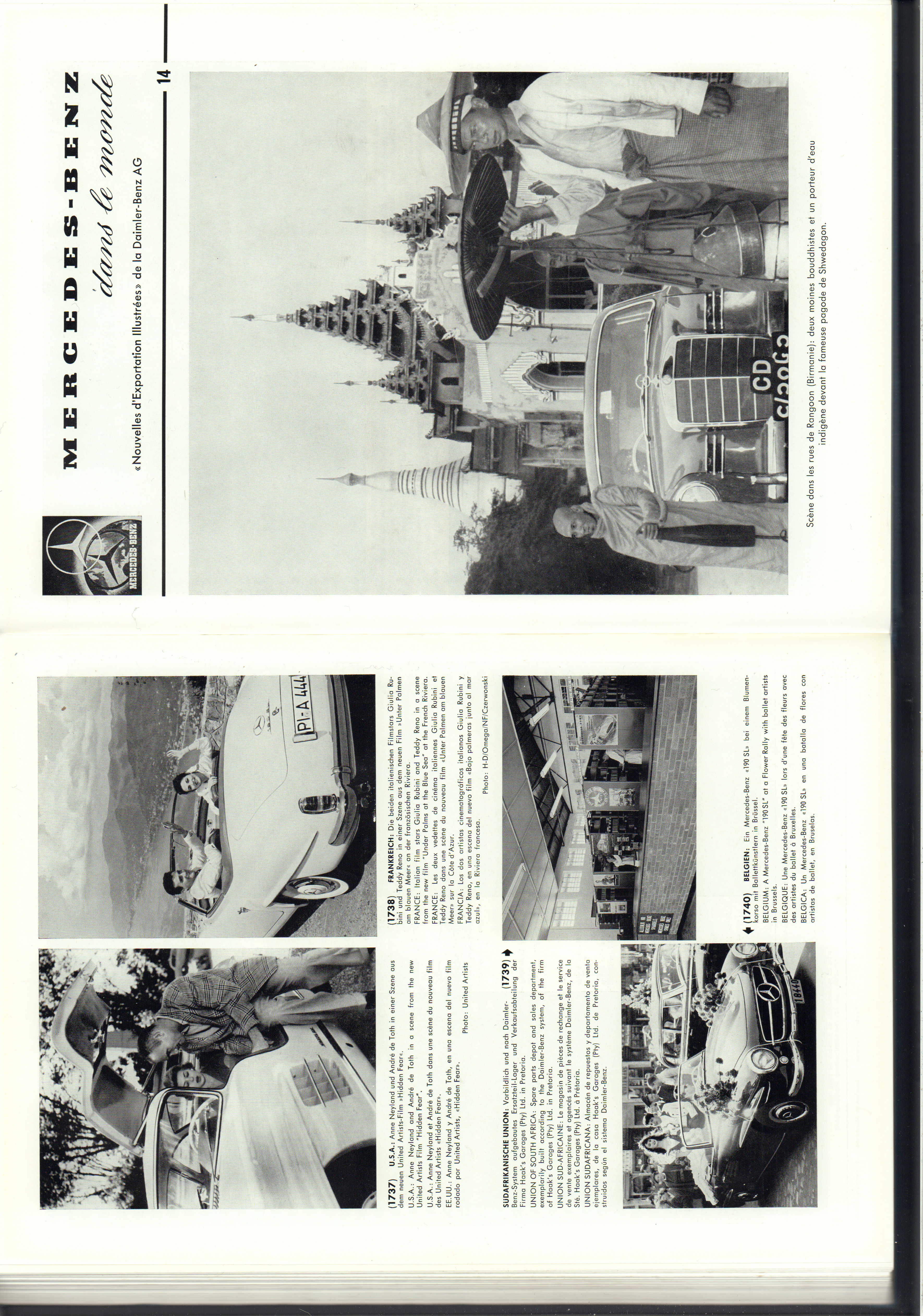 (REVISTA): Periódico In aller welt n.º 14 - Mercedes-Benz no mundo - 1957 - multilingue 001