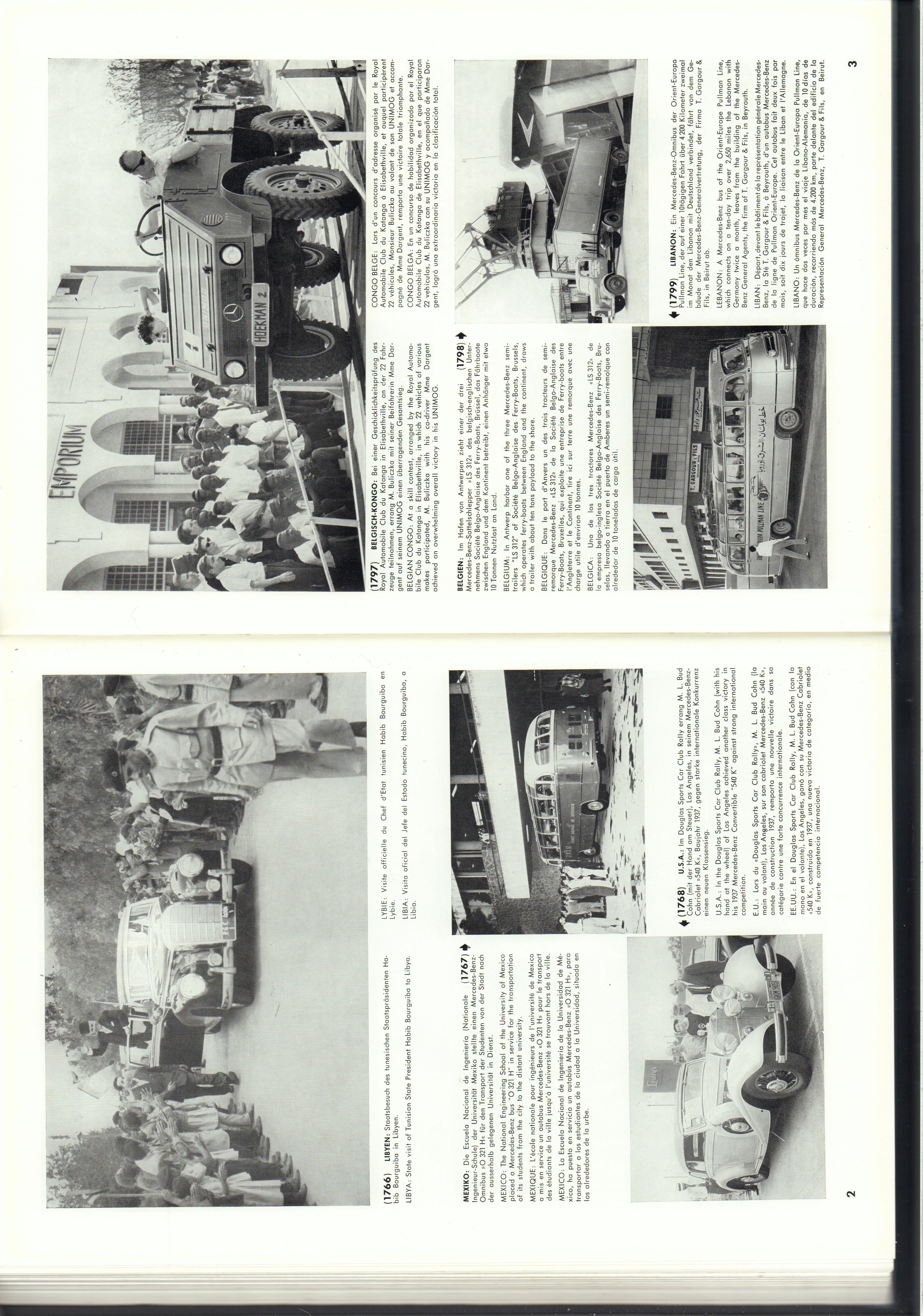 (REVISTA): Periódico In aller welt n.º 14 - Mercedes-Benz no mundo - 1957 - multilingue 002