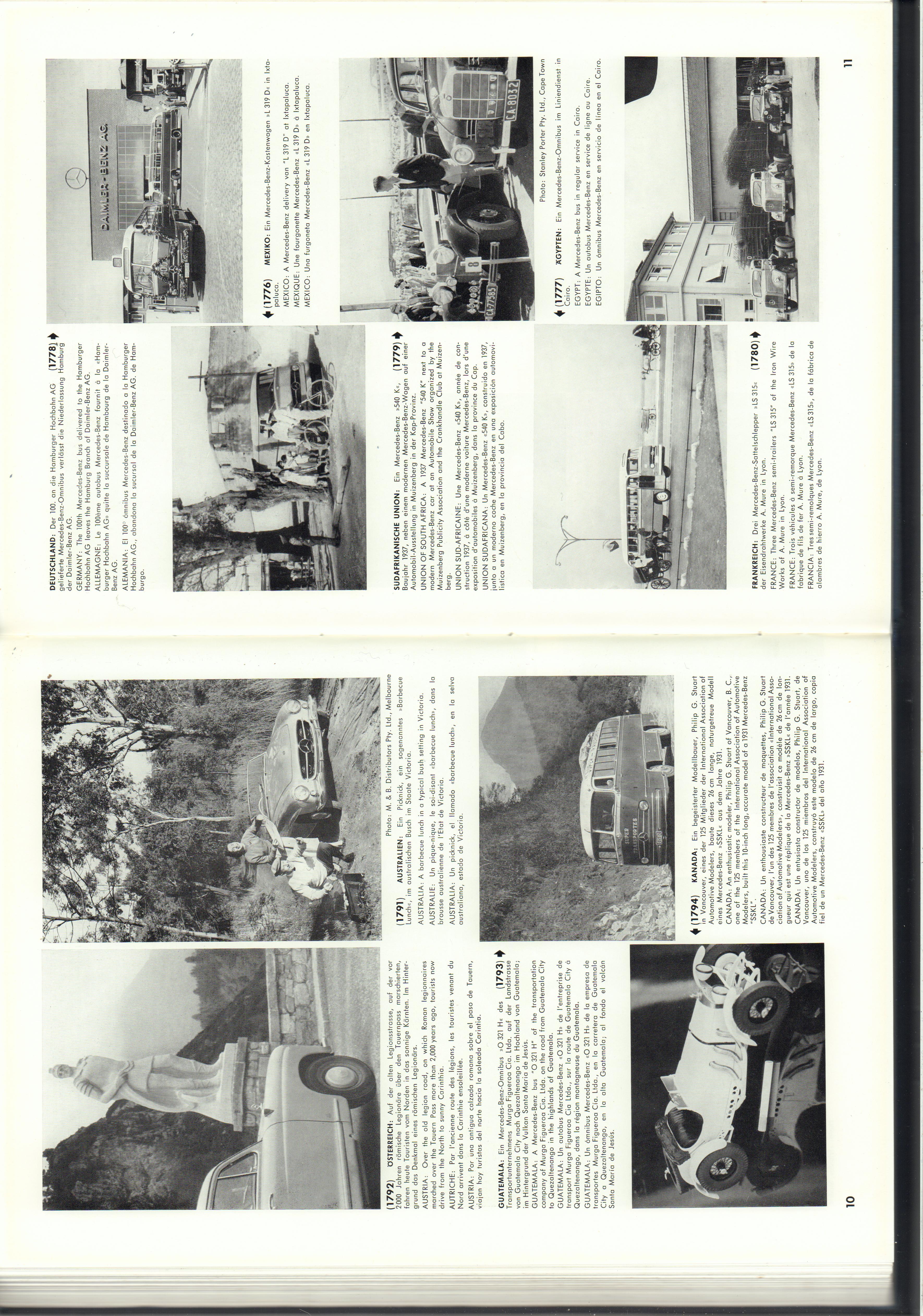 (REVISTA): Periódico In aller welt n.º 14 - Mercedes-Benz no mundo - 1957 - multilingue 006