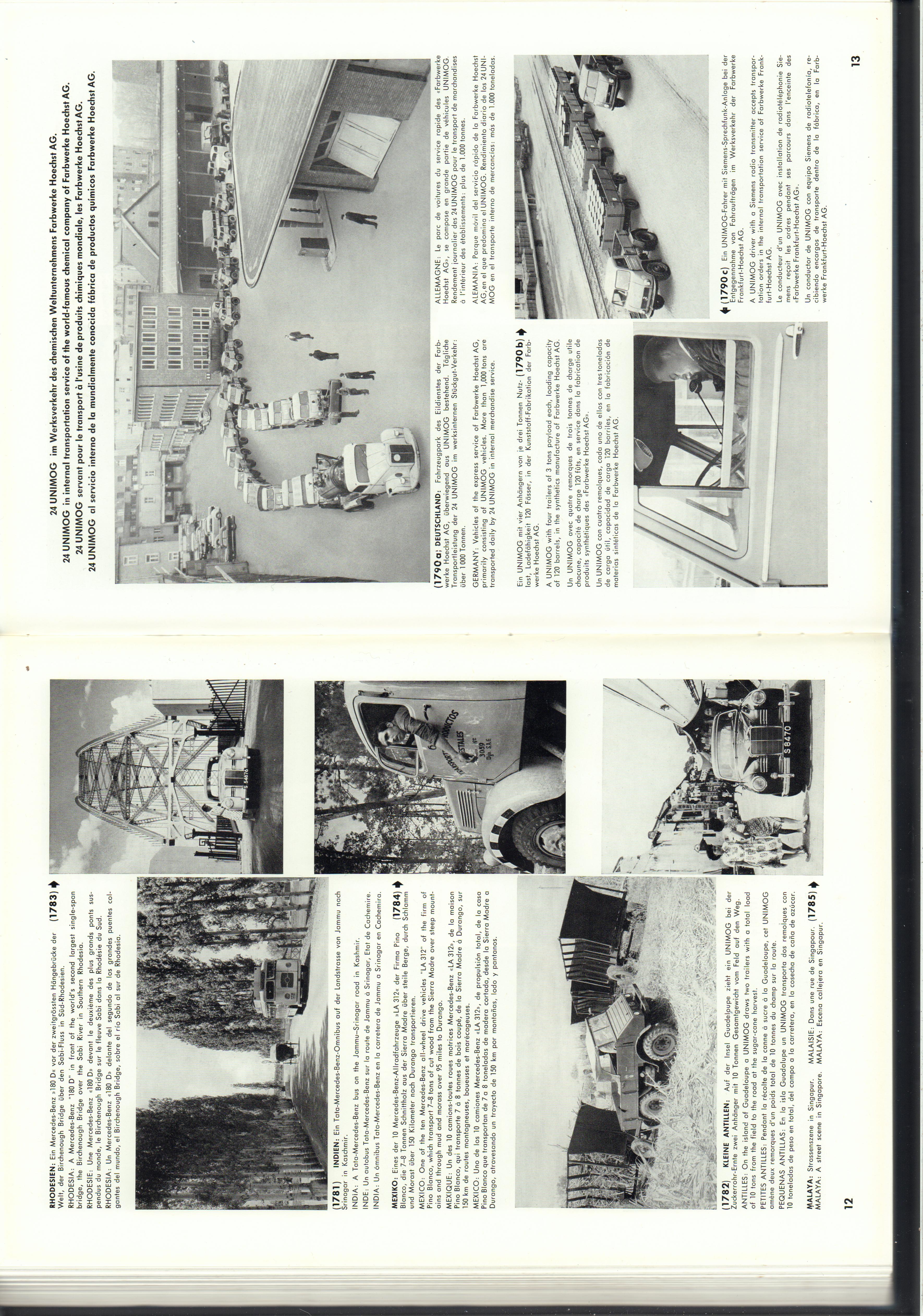 (REVISTA): Periódico In aller welt n.º 14 - Mercedes-Benz no mundo - 1957 - multilingue 007