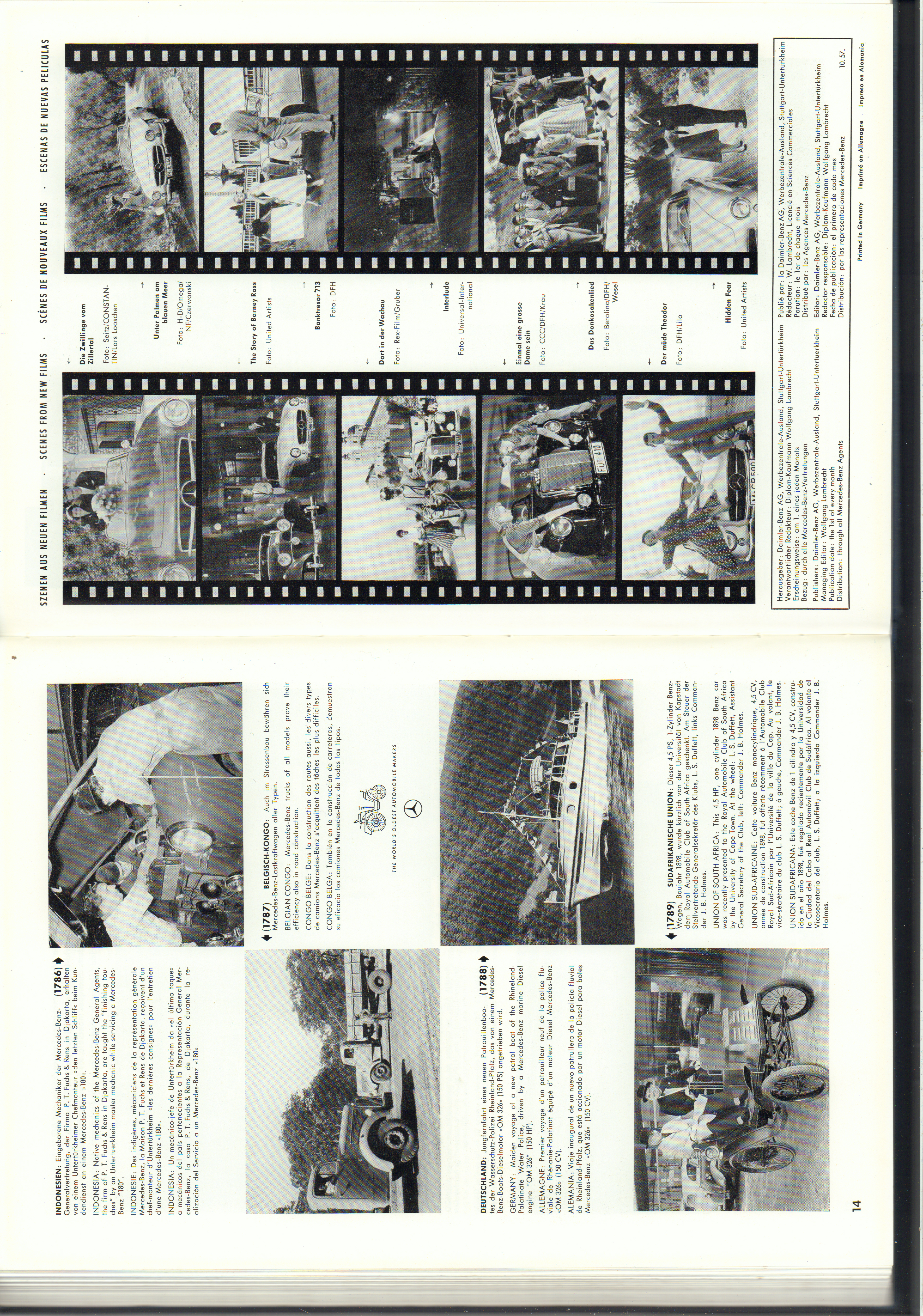 (REVISTA): Periódico In aller welt n.º 14 - Mercedes-Benz no mundo - 1957 - multilingue 008