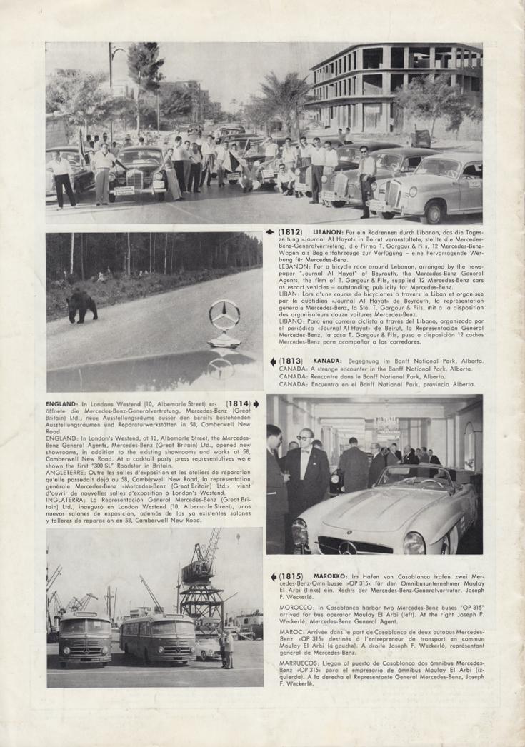 (REVISTA): Periódico In aller welt n.º 14 - Mercedes-Benz no mundo - 1957 - multilingue 009