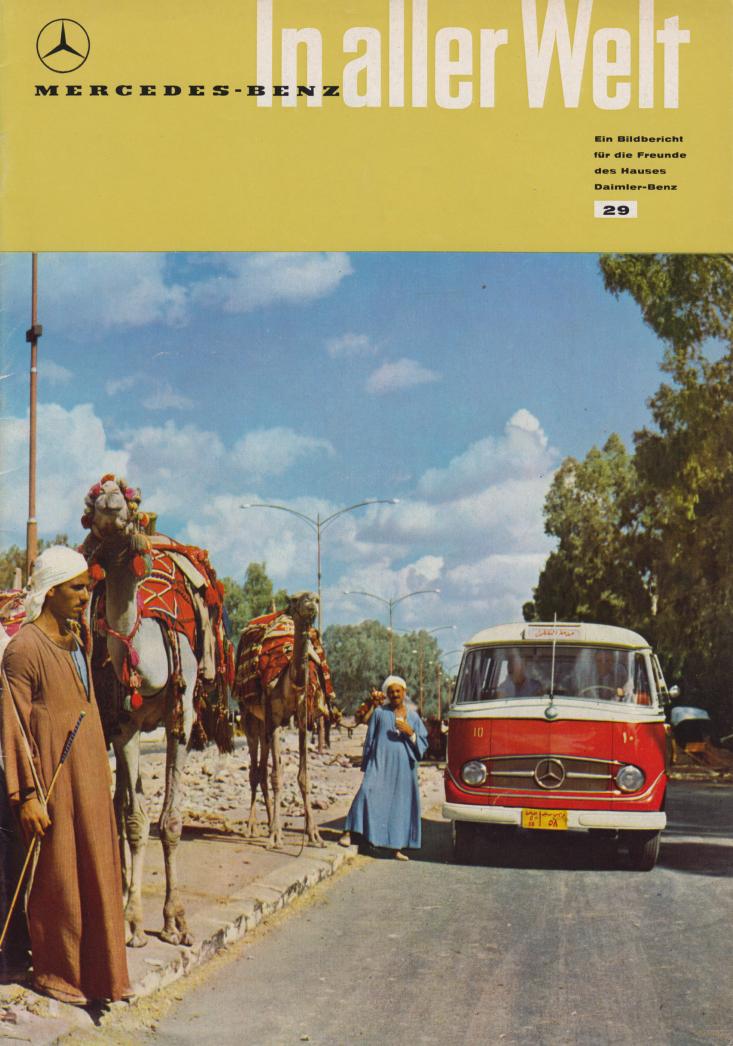 (REVISTA): Periódico In aller welt n.º 29 - Mercedes-Benz no mundo - 1959 - multilingue 001