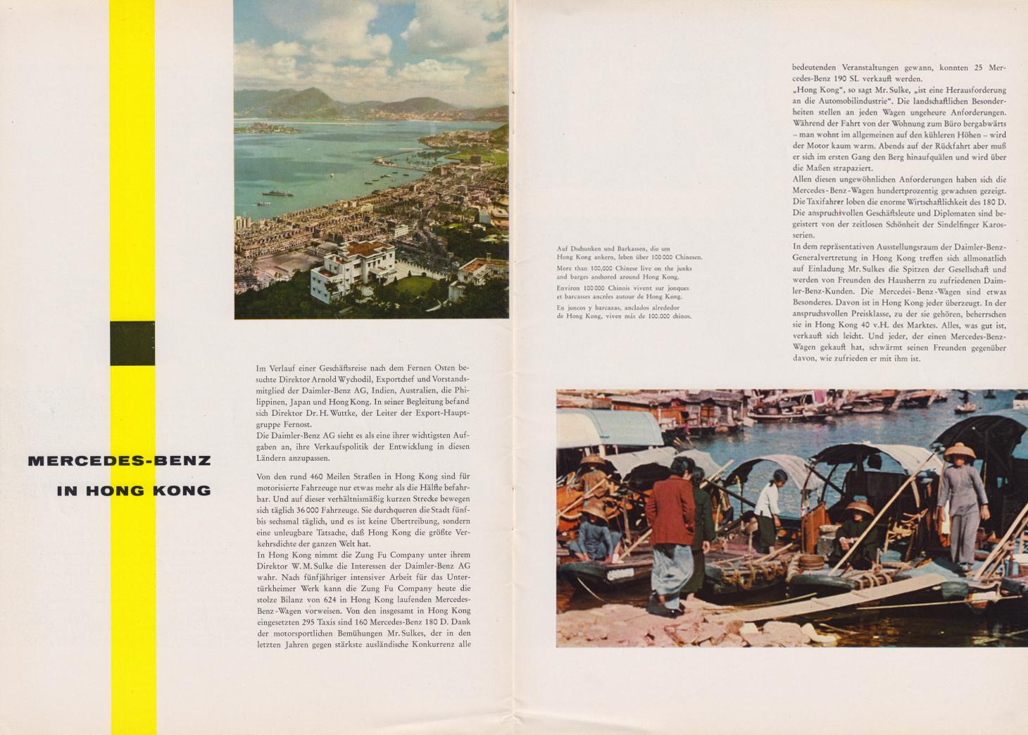 (REVISTA): Periódico In aller welt n.º 29 - Mercedes-Benz no mundo - 1959 - multilingue 003