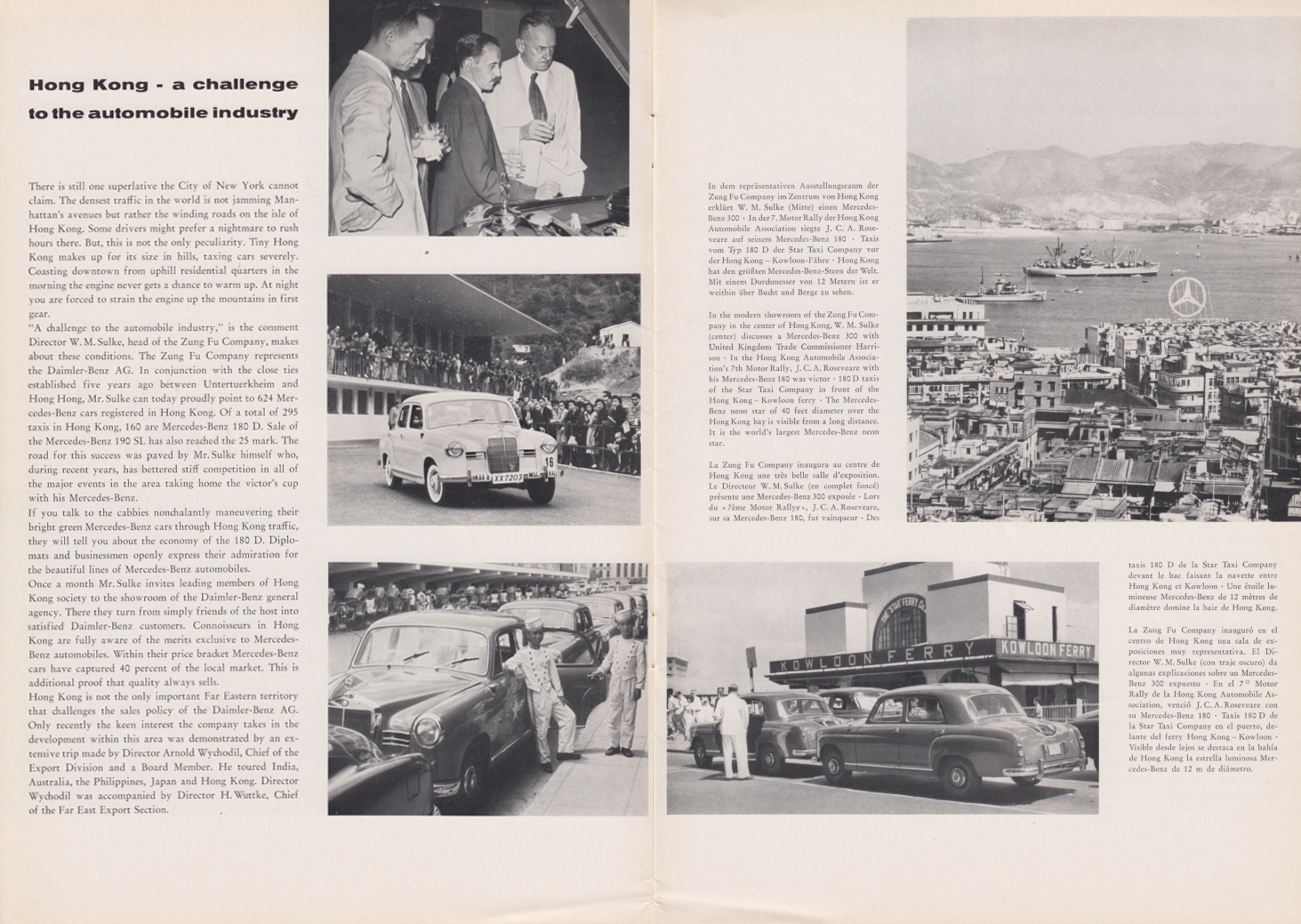 (REVISTA): Periódico In aller welt n.º 29 - Mercedes-Benz no mundo - 1959 - multilingue 004
