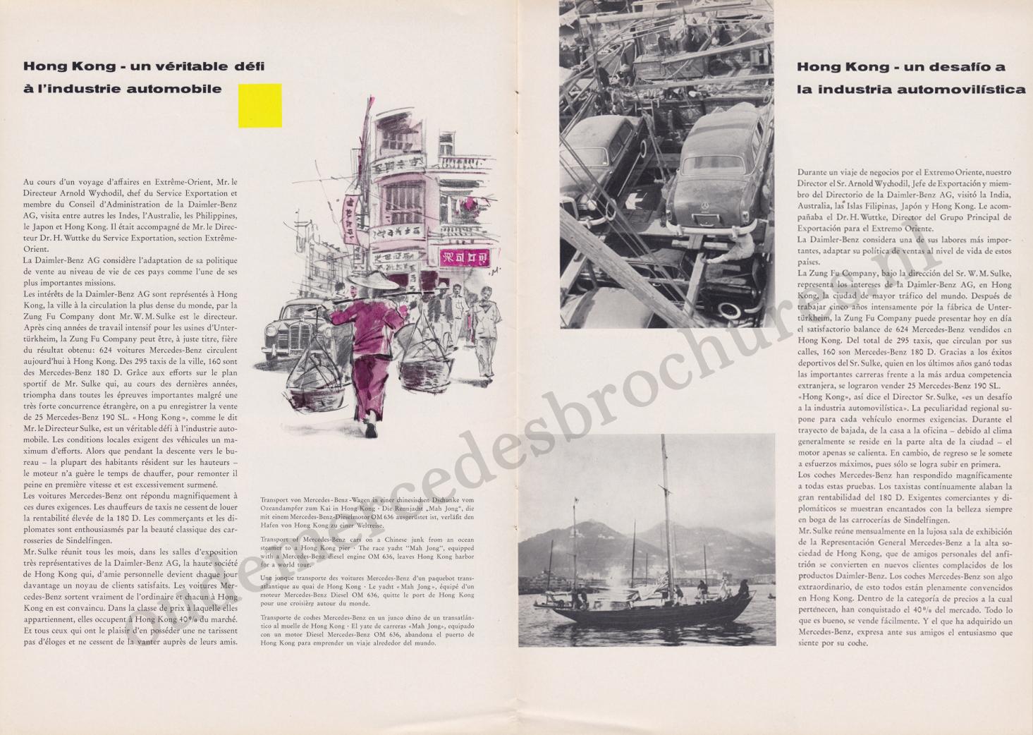 (REVISTA): Periódico In aller welt n.º 29 - Mercedes-Benz no mundo - 1959 - multilingue 005