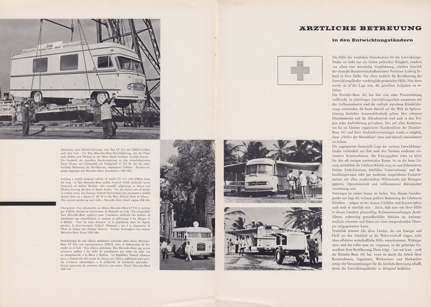 (REVISTA): Periódico In aller welt n.º 29 - Mercedes-Benz no mundo - 1959 - multilingue 006