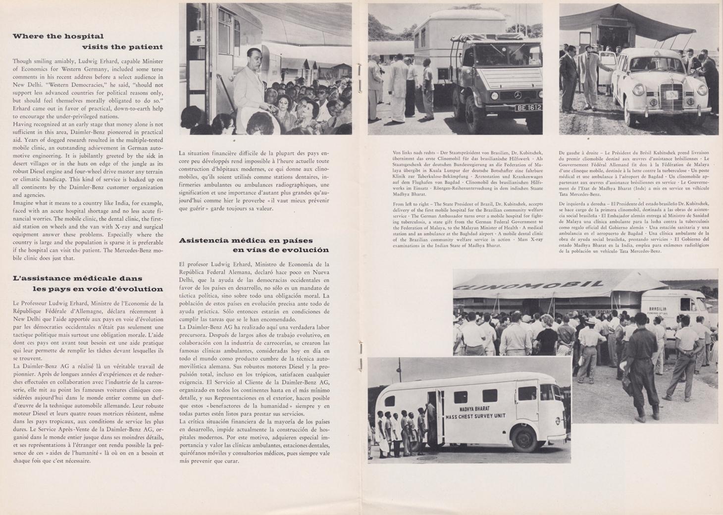 (REVISTA): Periódico In aller welt n.º 29 - Mercedes-Benz no mundo - 1959 - multilingue 007