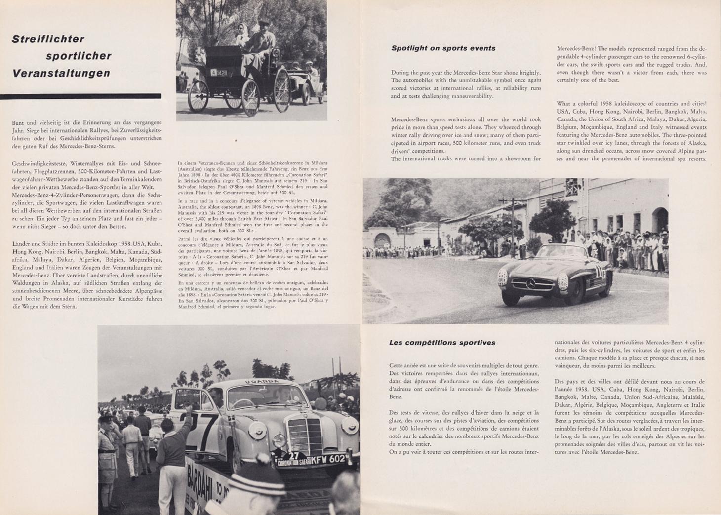 (REVISTA): Periódico In aller welt n.º 29 - Mercedes-Benz no mundo - 1959 - multilingue 008