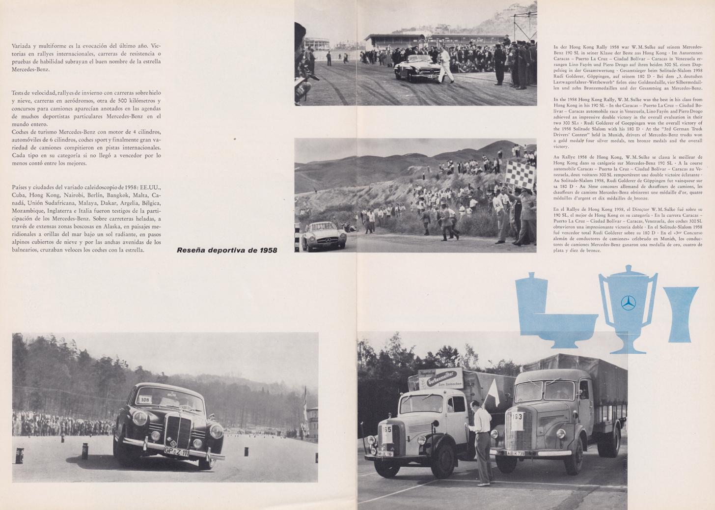 (REVISTA): Periódico In aller welt n.º 29 - Mercedes-Benz no mundo - 1959 - multilingue 009