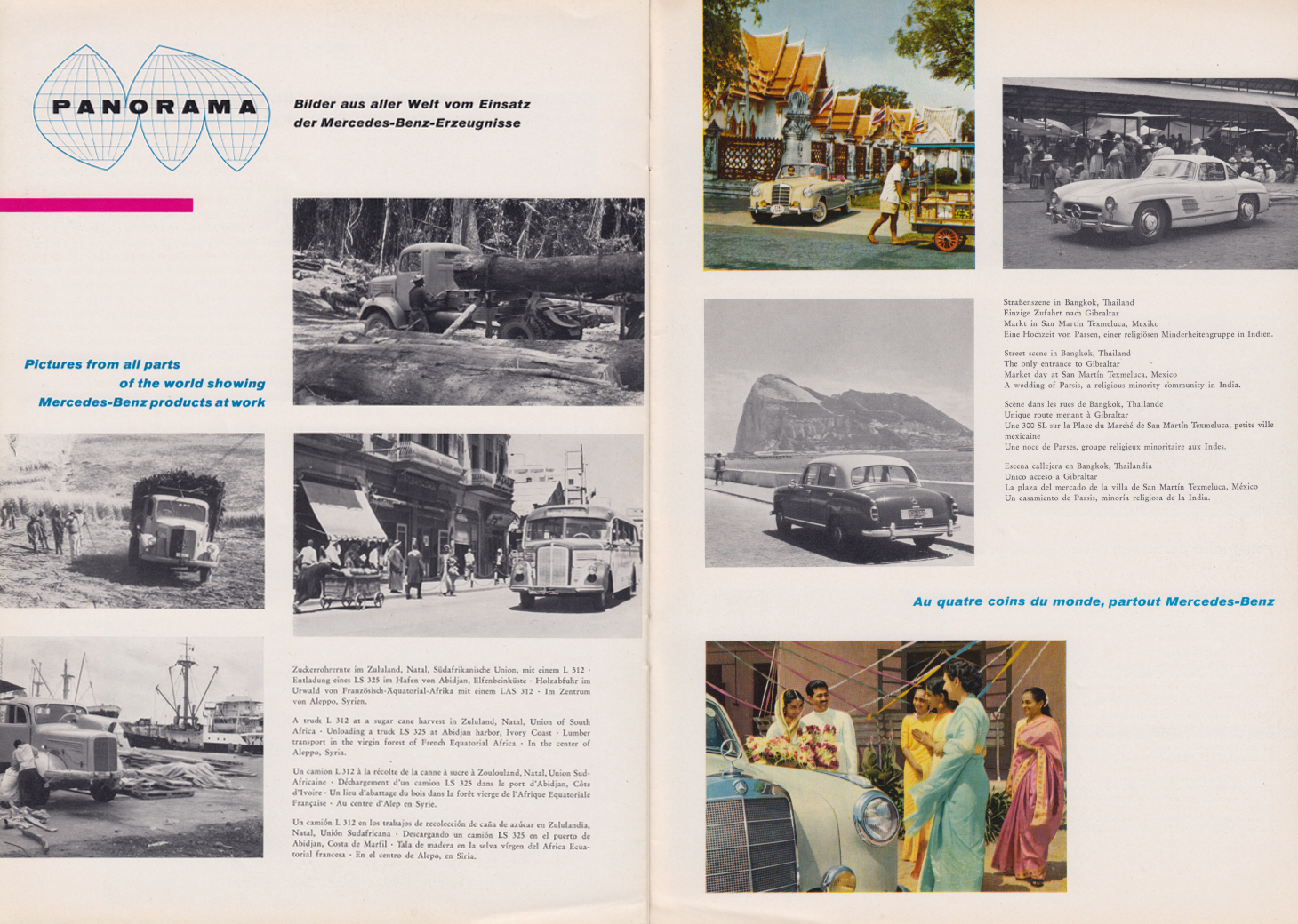 (REVISTA): Periódico In aller welt n.º 29 - Mercedes-Benz no mundo - 1959 - multilingue 011