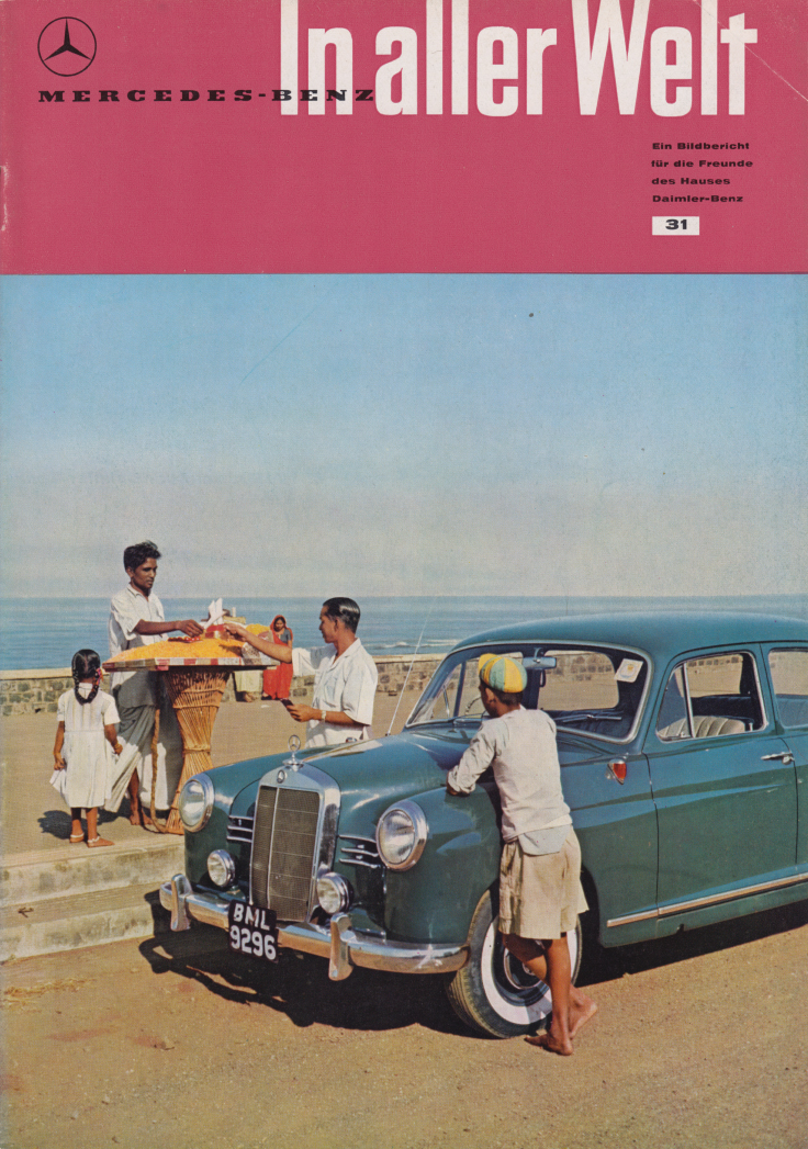 (REVISTA): Periódico In aller welt n.º 31 - Mercedes-Benz no mundo - 1959 - multilingue 001