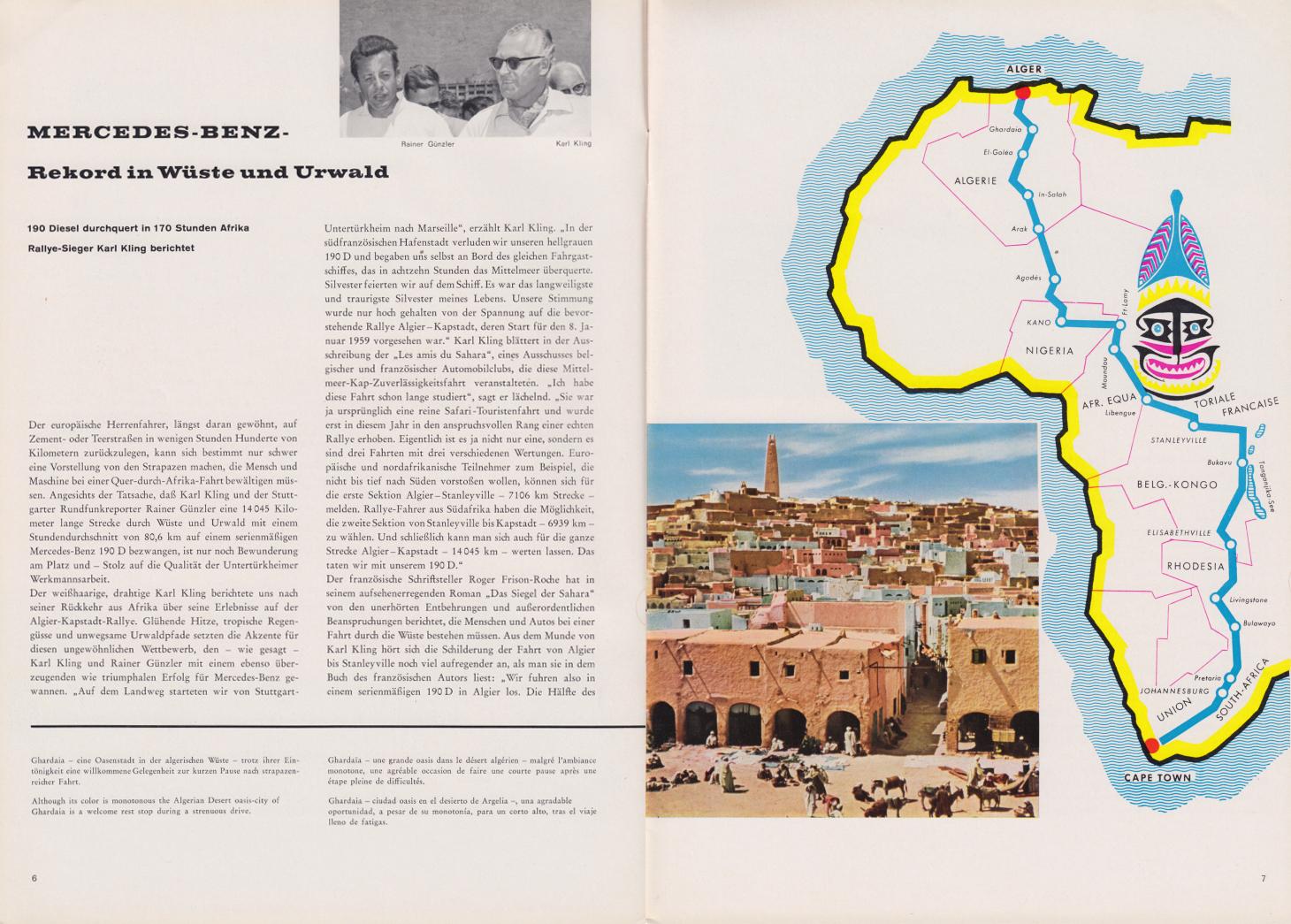 (REVISTA): Periódico In aller welt n.º 31 - Mercedes-Benz no mundo - 1959 - multilingue 004