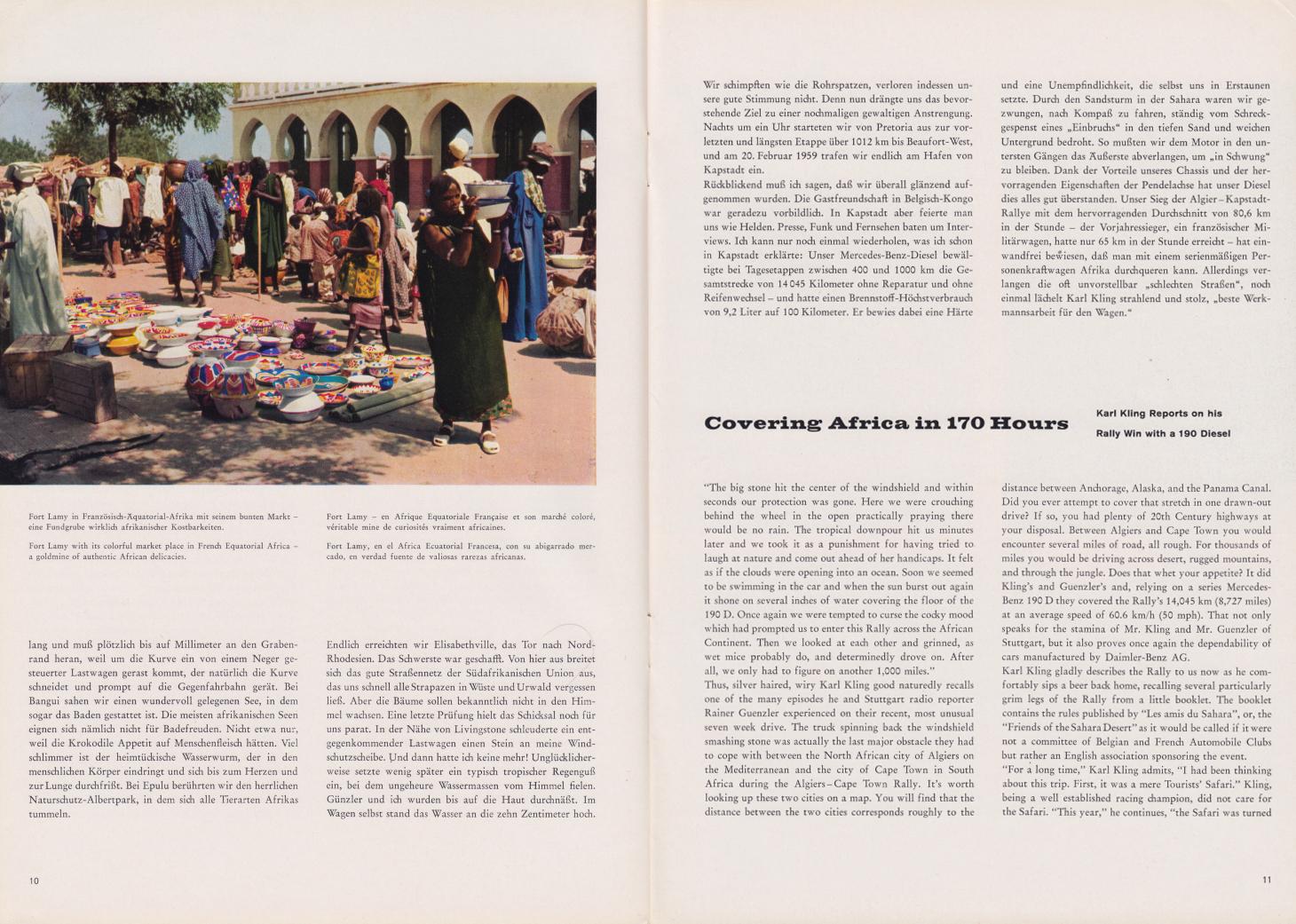 (REVISTA): Periódico In aller welt n.º 31 - Mercedes-Benz no mundo - 1959 - multilingue 006