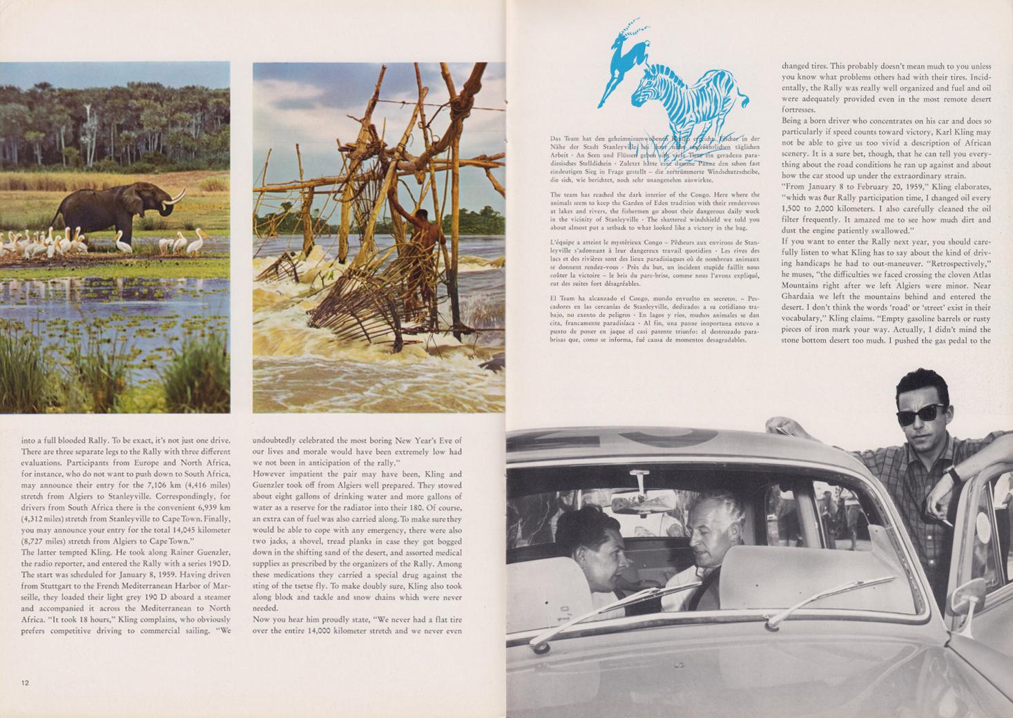 (REVISTA): Periódico In aller welt n.º 31 - Mercedes-Benz no mundo - 1959 - multilingue 007
