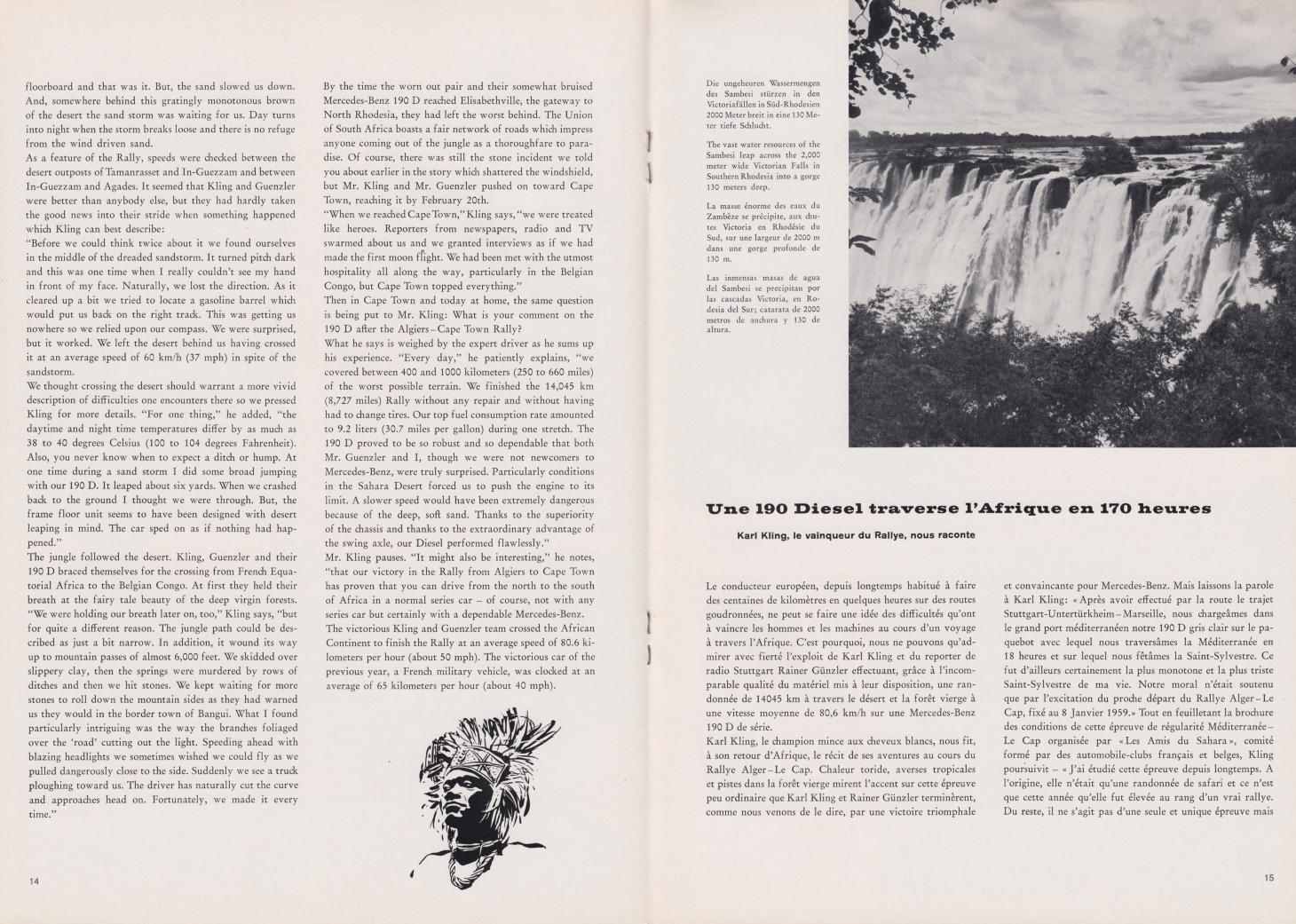 (REVISTA): Periódico In aller welt n.º 31 - Mercedes-Benz no mundo - 1959 - multilingue 008