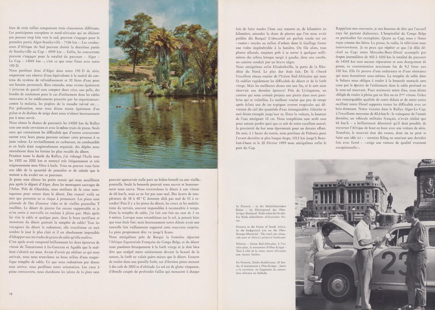 (REVISTA): Periódico In aller welt n.º 31 - Mercedes-Benz no mundo - 1959 - multilingue 009