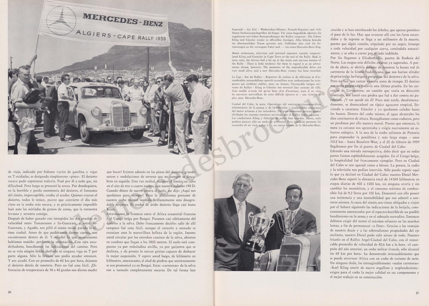 (REVISTA): Periódico In aller welt n.º 31 - Mercedes-Benz no mundo - 1959 - multilingue 011