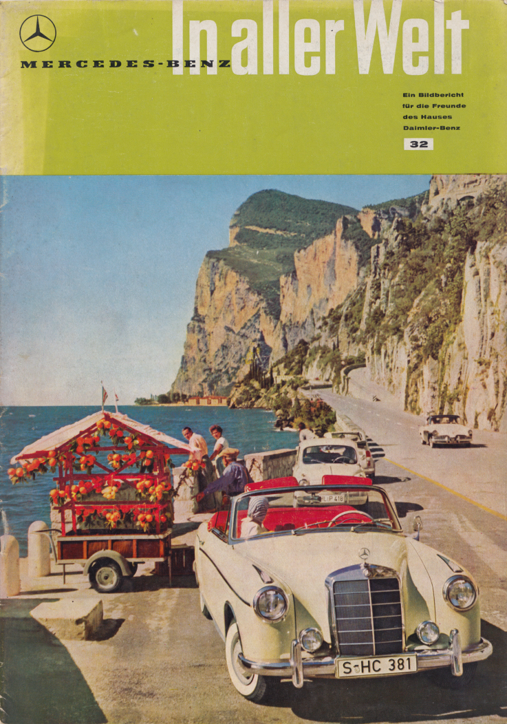 (REVISTA): Periódico In aller welt n.º 32 - Mercedes-Benz no mundo - 1959 - multilingue 001