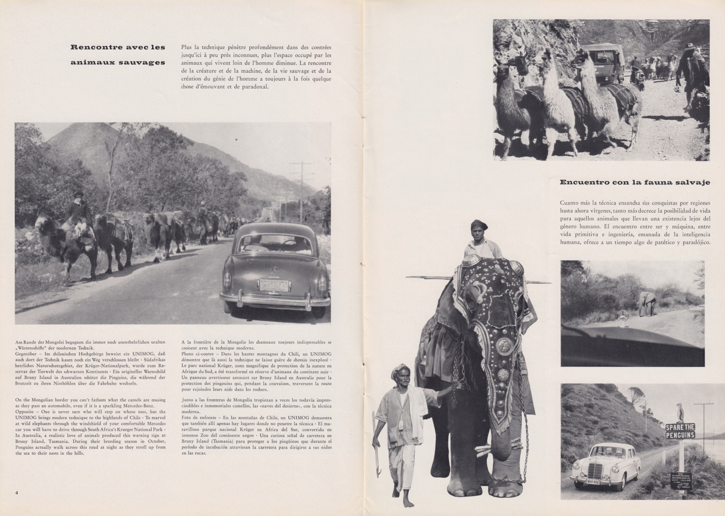 (REVISTA): Periódico In aller welt n.º 32 - Mercedes-Benz no mundo - 1959 - multilingue 003