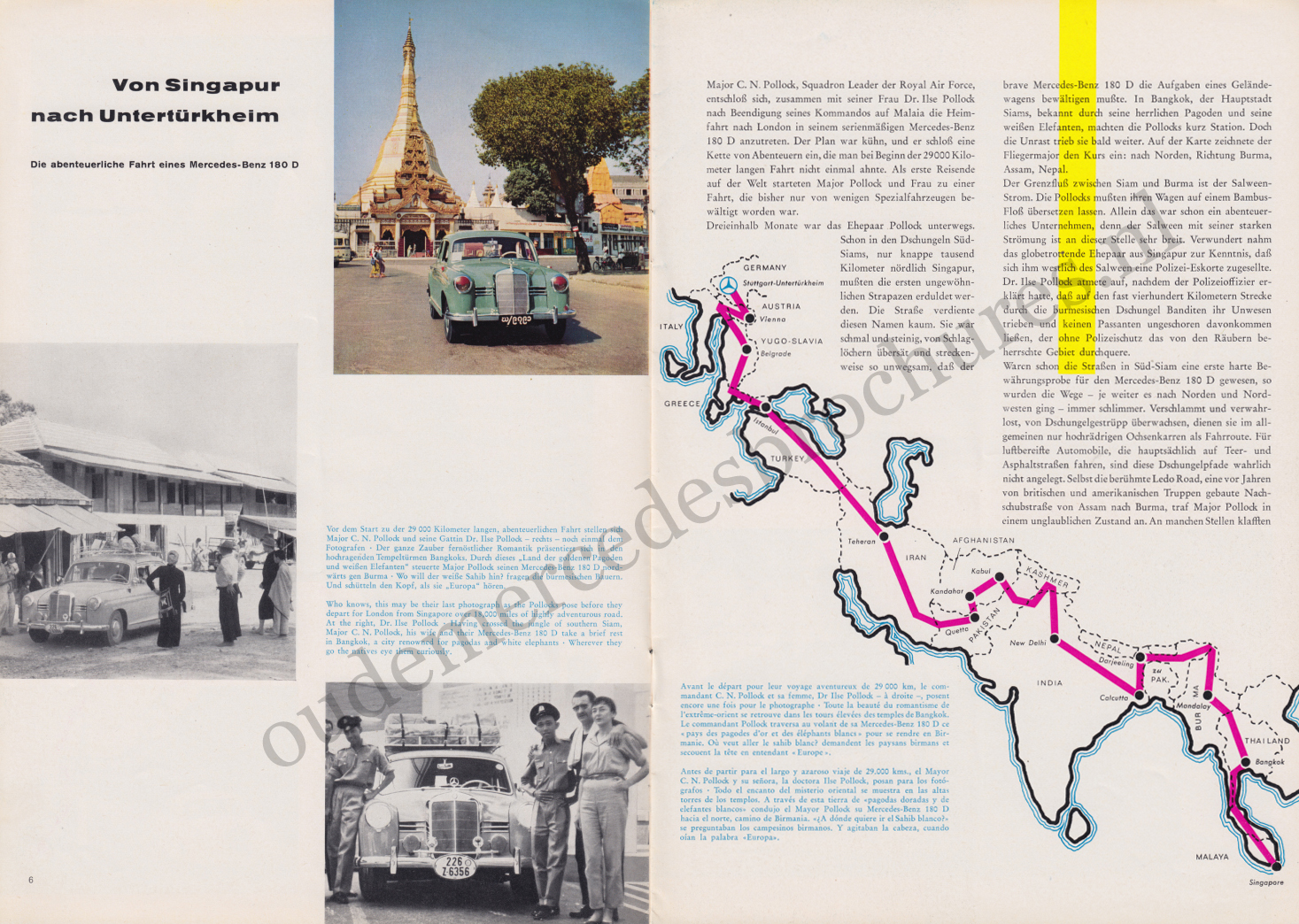 (REVISTA): Periódico In aller welt n.º 32 - Mercedes-Benz no mundo - 1959 - multilingue 004