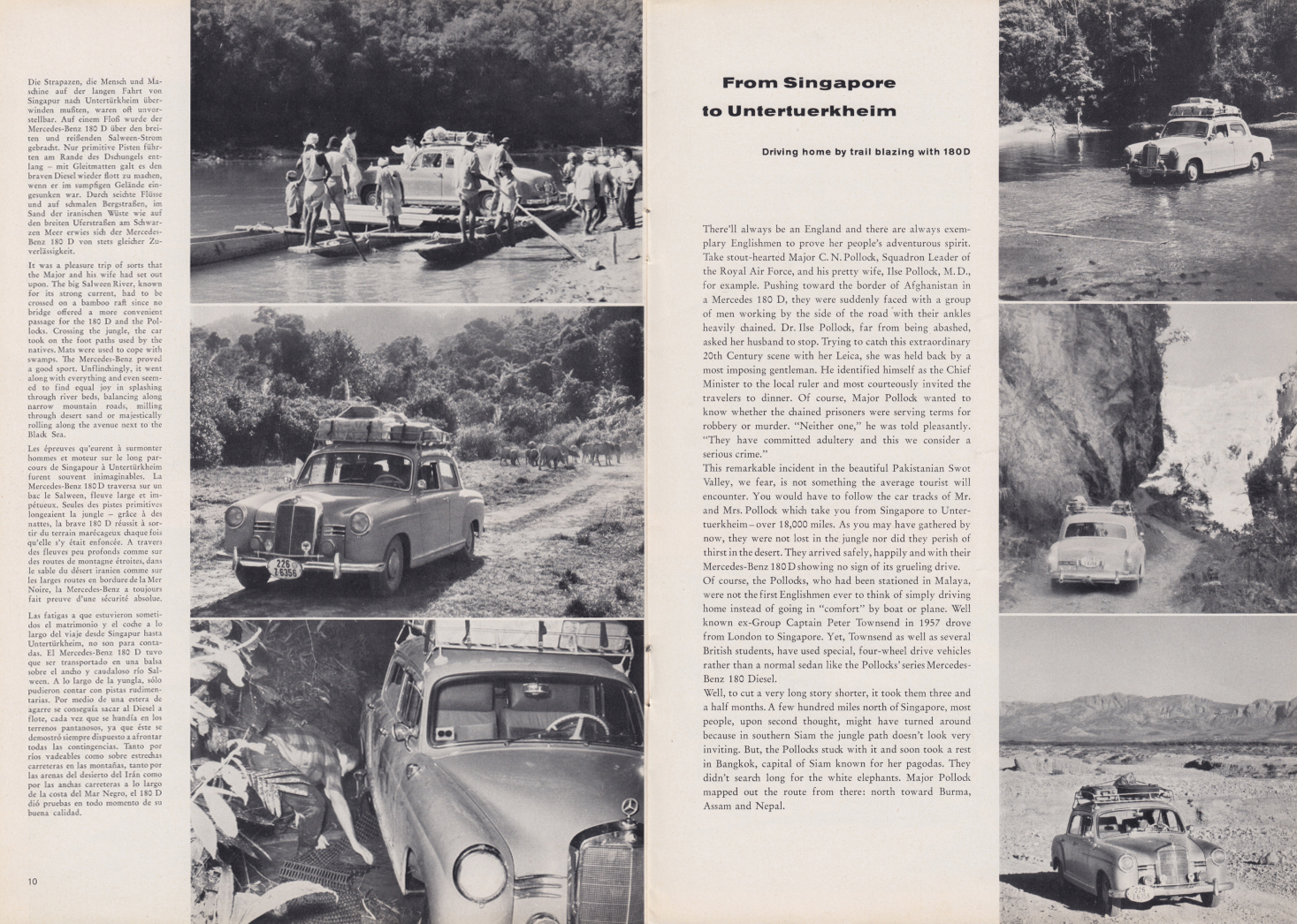 (REVISTA): Periódico In aller welt n.º 32 - Mercedes-Benz no mundo - 1959 - multilingue 006