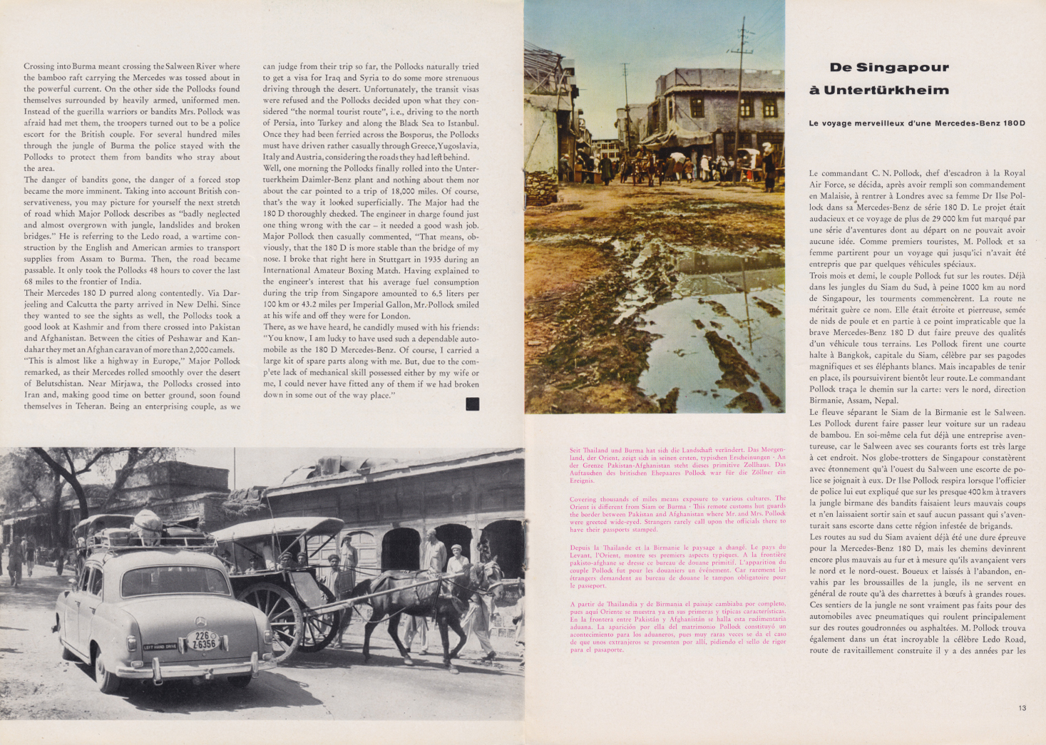 (REVISTA): Periódico In aller welt n.º 32 - Mercedes-Benz no mundo - 1959 - multilingue 007