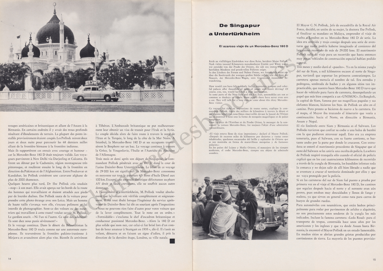 (REVISTA): Periódico In aller welt n.º 32 - Mercedes-Benz no mundo - 1959 - multilingue 008