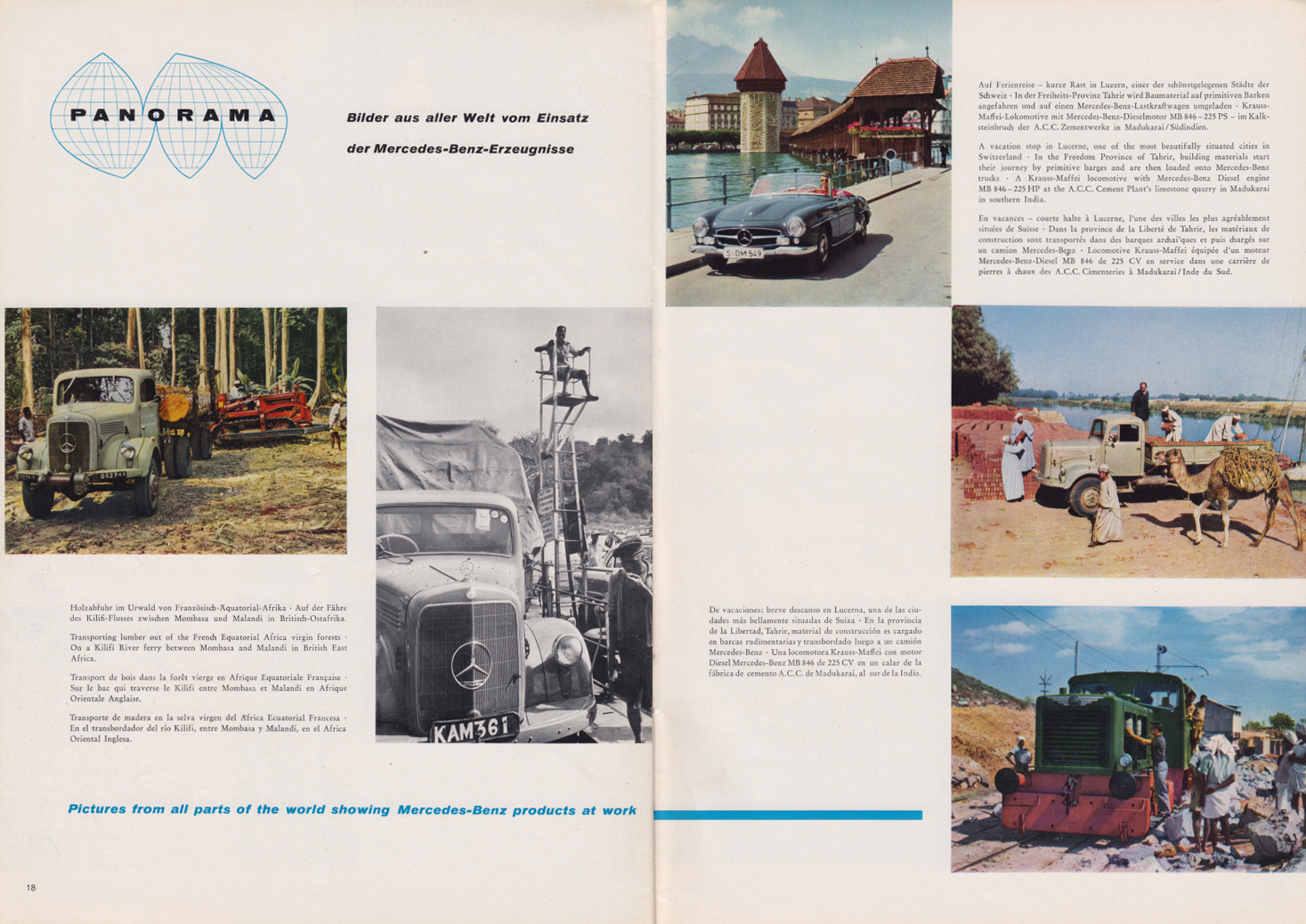(REVISTA): Periódico In aller welt n.º 32 - Mercedes-Benz no mundo - 1959 - multilingue 010