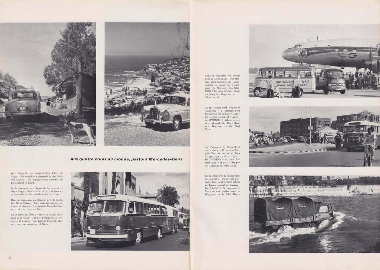 (REVISTA): Periódico In aller welt n.º 32 - Mercedes-Benz no mundo - 1959 - multilingue 011
