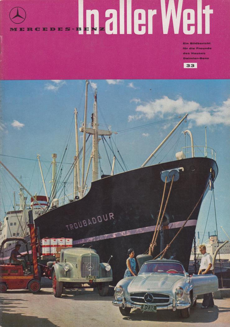(REVISTA): Periódico In aller welt n.º 33 - Mercedes-Benz no mundo - 1959 - multilingue 001