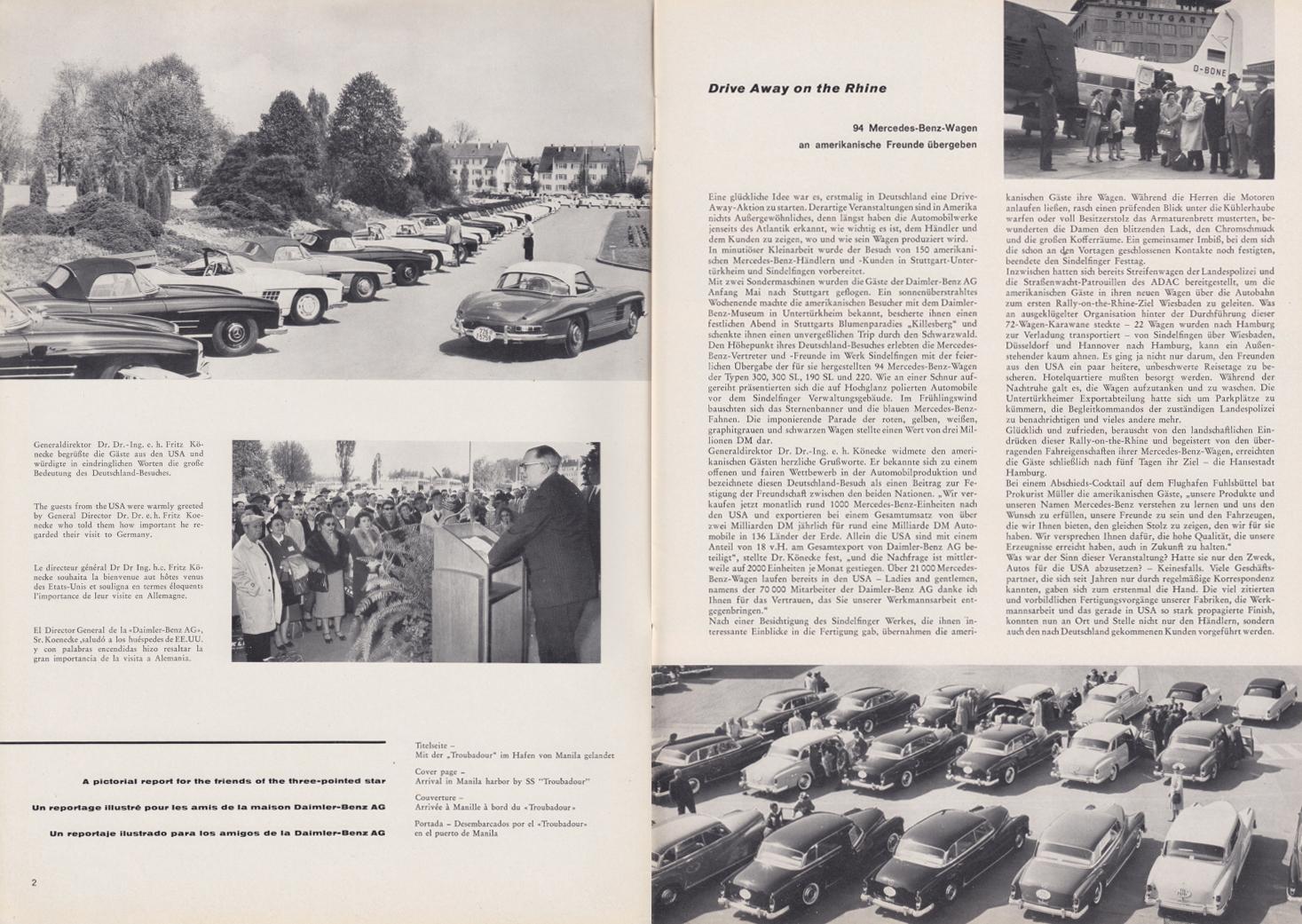 (REVISTA): Periódico In aller welt n.º 33 - Mercedes-Benz no mundo - 1959 - multilingue 002