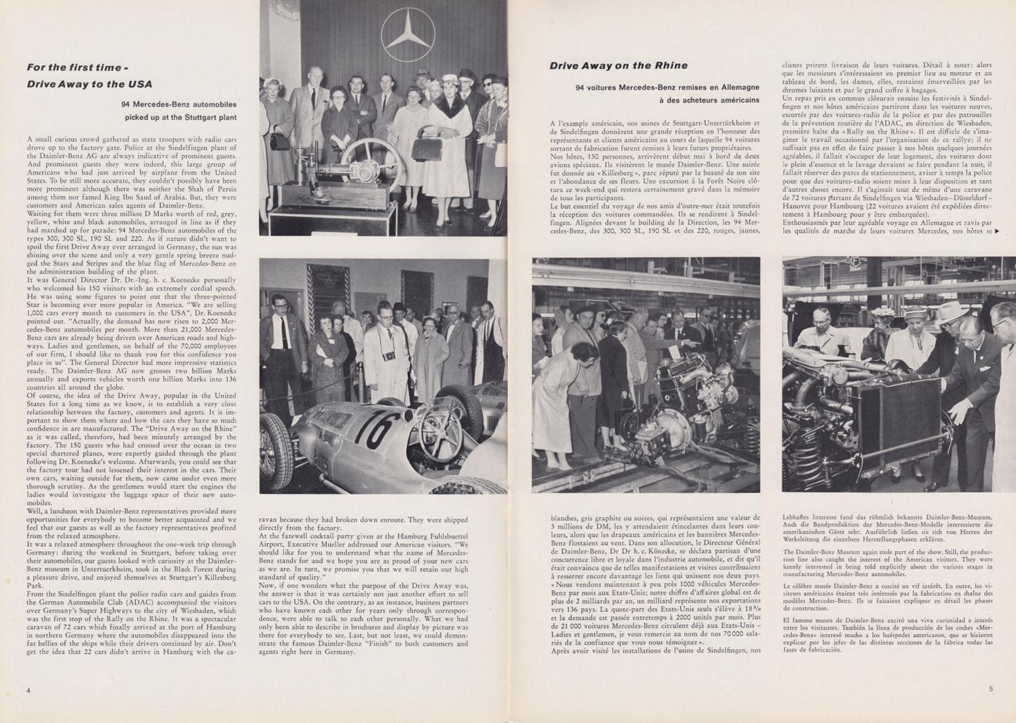 (REVISTA): Periódico In aller welt n.º 33 - Mercedes-Benz no mundo - 1959 - multilingue 003