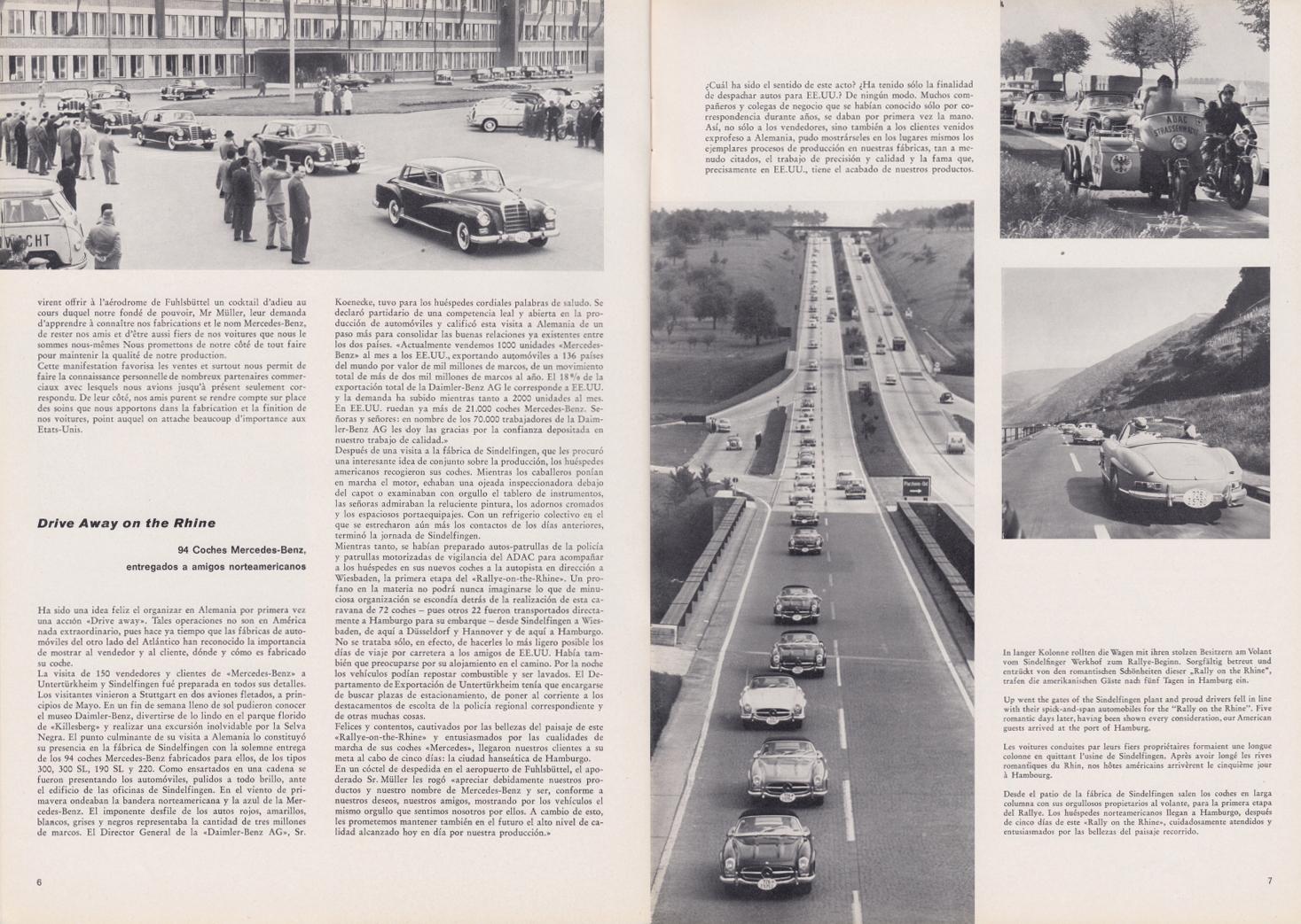 (REVISTA): Periódico In aller welt n.º 33 - Mercedes-Benz no mundo - 1959 - multilingue 004