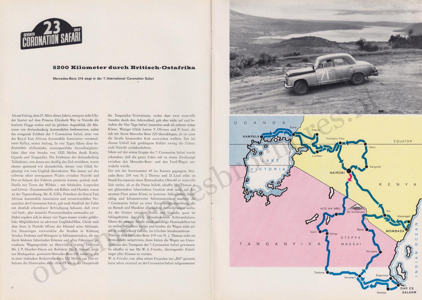 (REVISTA): Periódico In aller welt n.º 33 - Mercedes-Benz no mundo - 1959 - multilingue 005