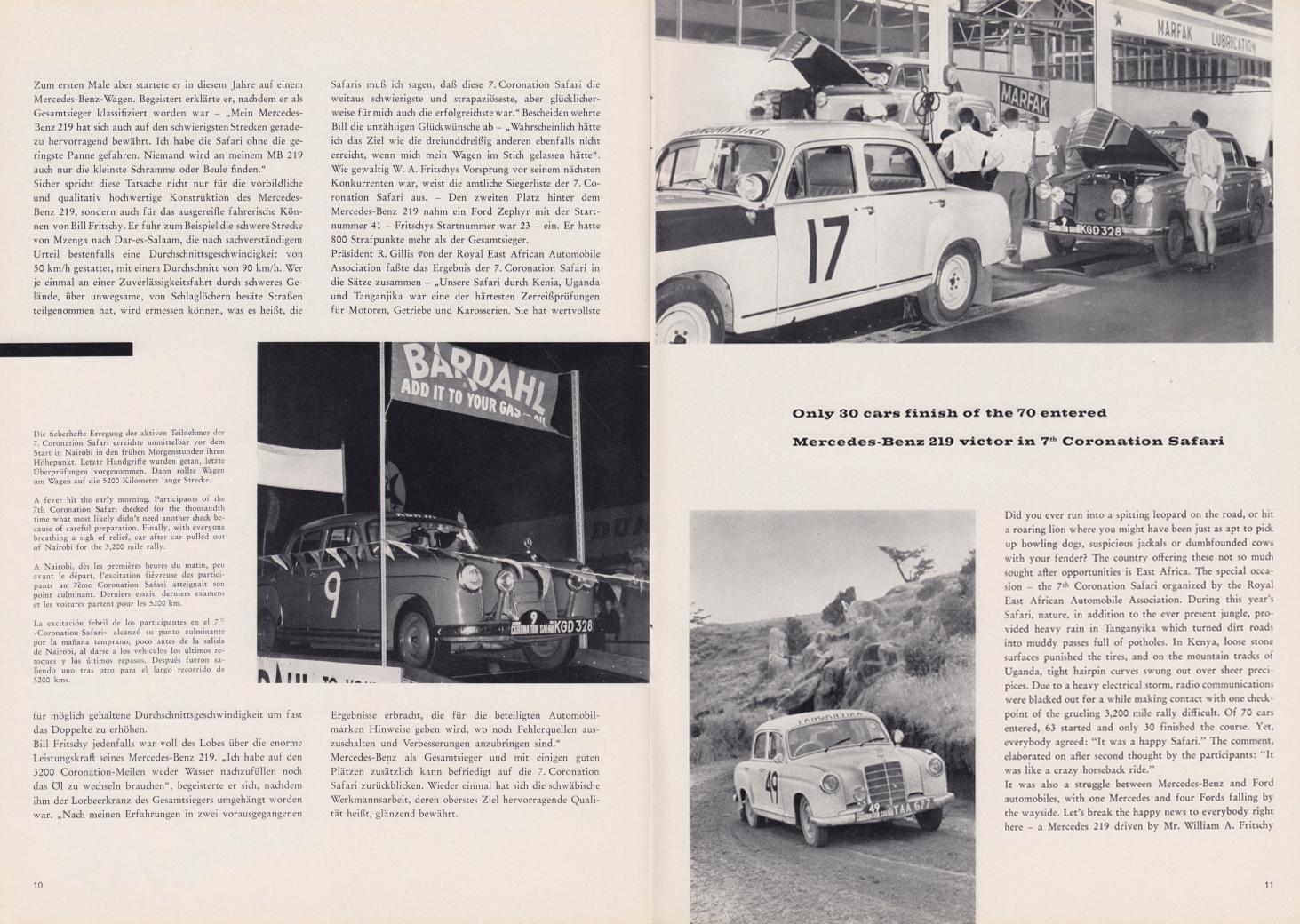 (REVISTA): Periódico In aller welt n.º 33 - Mercedes-Benz no mundo - 1959 - multilingue 006