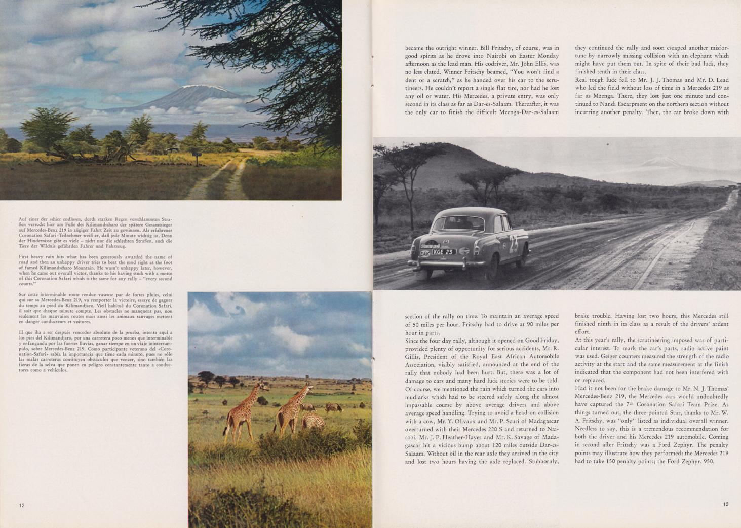 (REVISTA): Periódico In aller welt n.º 33 - Mercedes-Benz no mundo - 1959 - multilingue 007
