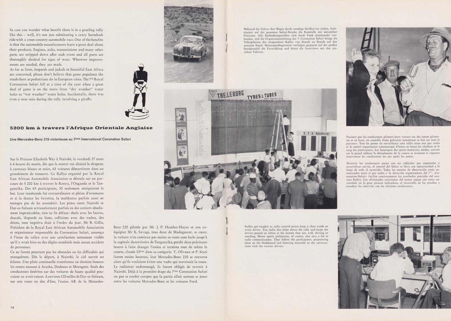 (REVISTA): Periódico In aller welt n.º 33 - Mercedes-Benz no mundo - 1959 - multilingue 008