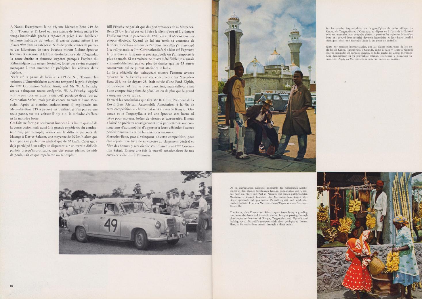 (REVISTA): Periódico In aller welt n.º 33 - Mercedes-Benz no mundo - 1959 - multilingue 009