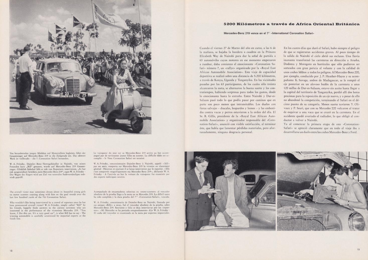 (REVISTA): Periódico In aller welt n.º 33 - Mercedes-Benz no mundo - 1959 - multilingue 010