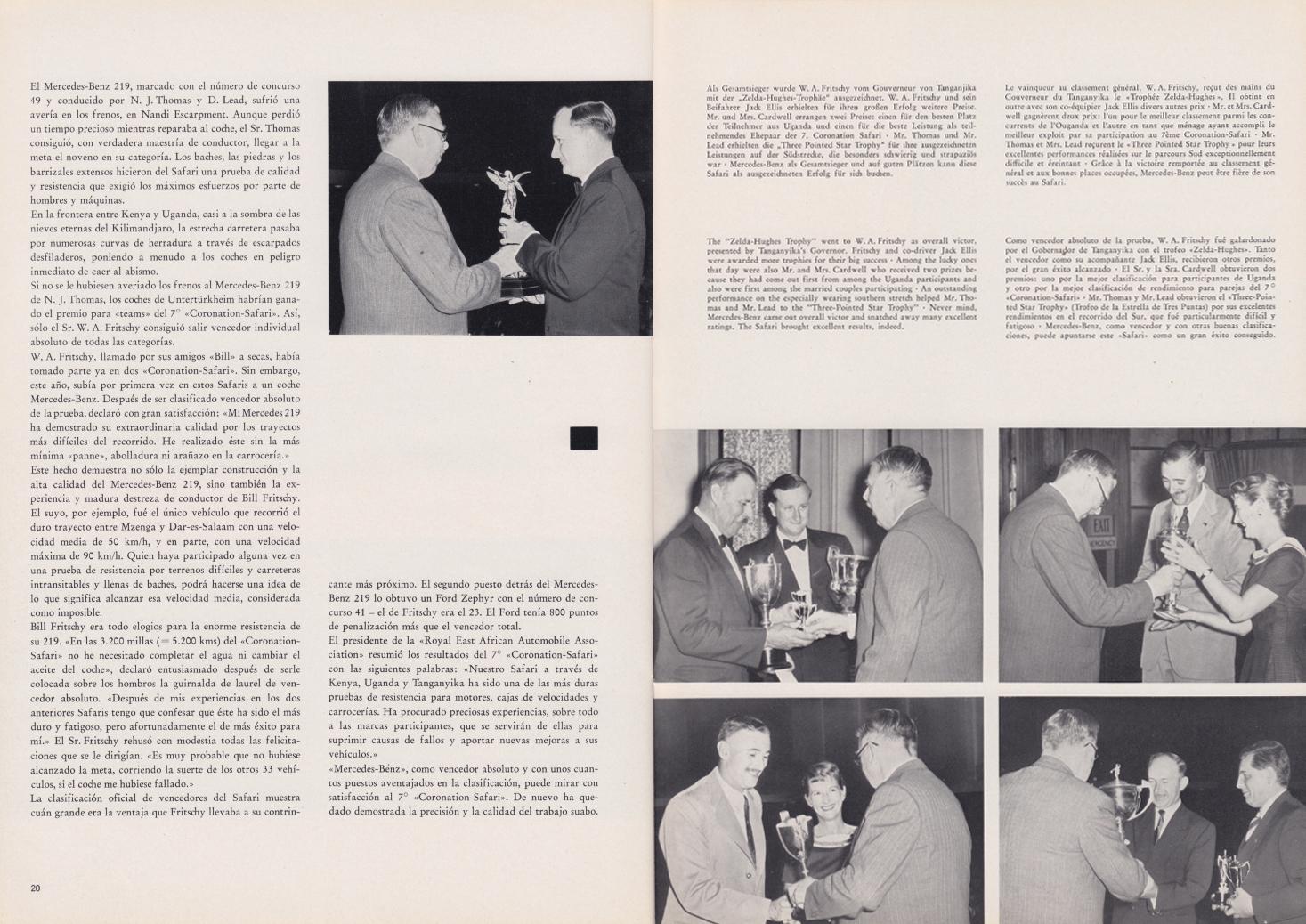 (REVISTA): Periódico In aller welt n.º 33 - Mercedes-Benz no mundo - 1959 - multilingue 011