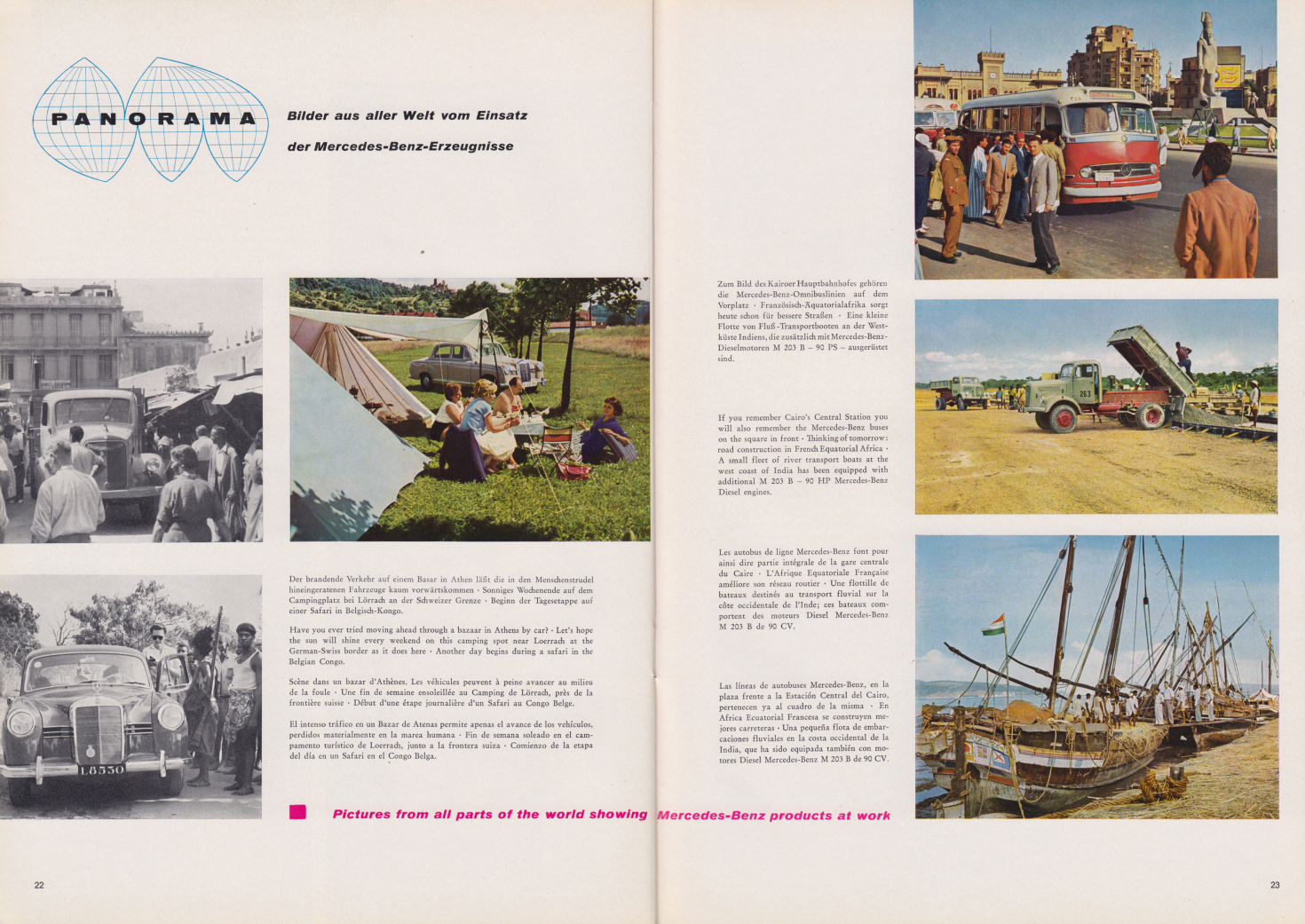 (REVISTA): Periódico In aller welt n.º 33 - Mercedes-Benz no mundo - 1959 - multilingue 012