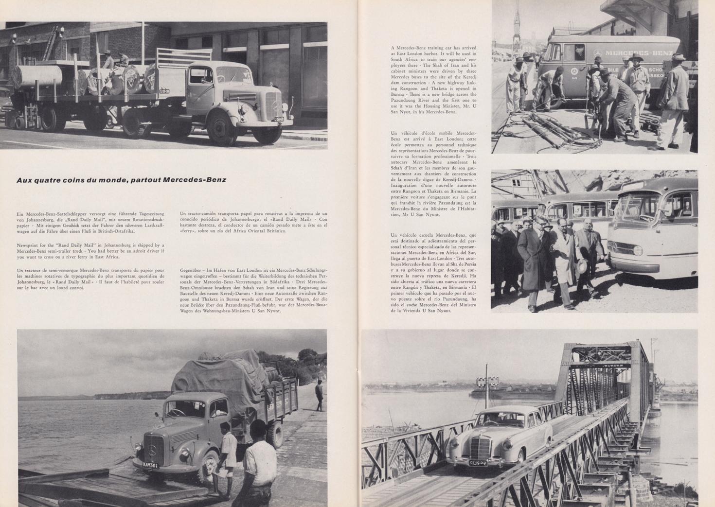 (REVISTA): Periódico In aller welt n.º 33 - Mercedes-Benz no mundo - 1959 - multilingue 013
