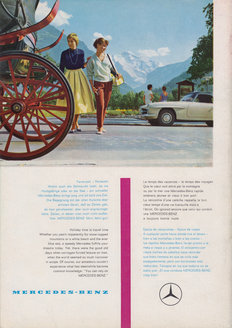 (REVISTA): Periódico In aller welt n.º 33 - Mercedes-Benz no mundo - 1959 - multilingue 015