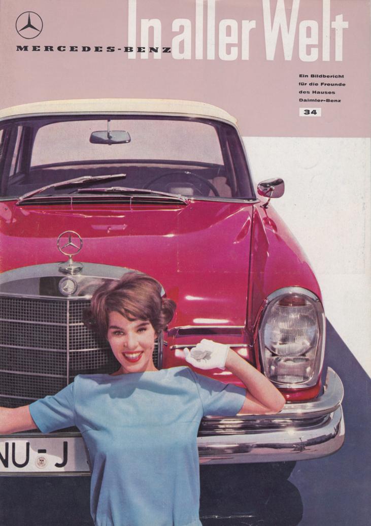 (REVISTA): Periódico In aller welt n.º 34 - Mercedes-Benz no mundo - 1959 - multilingue 001