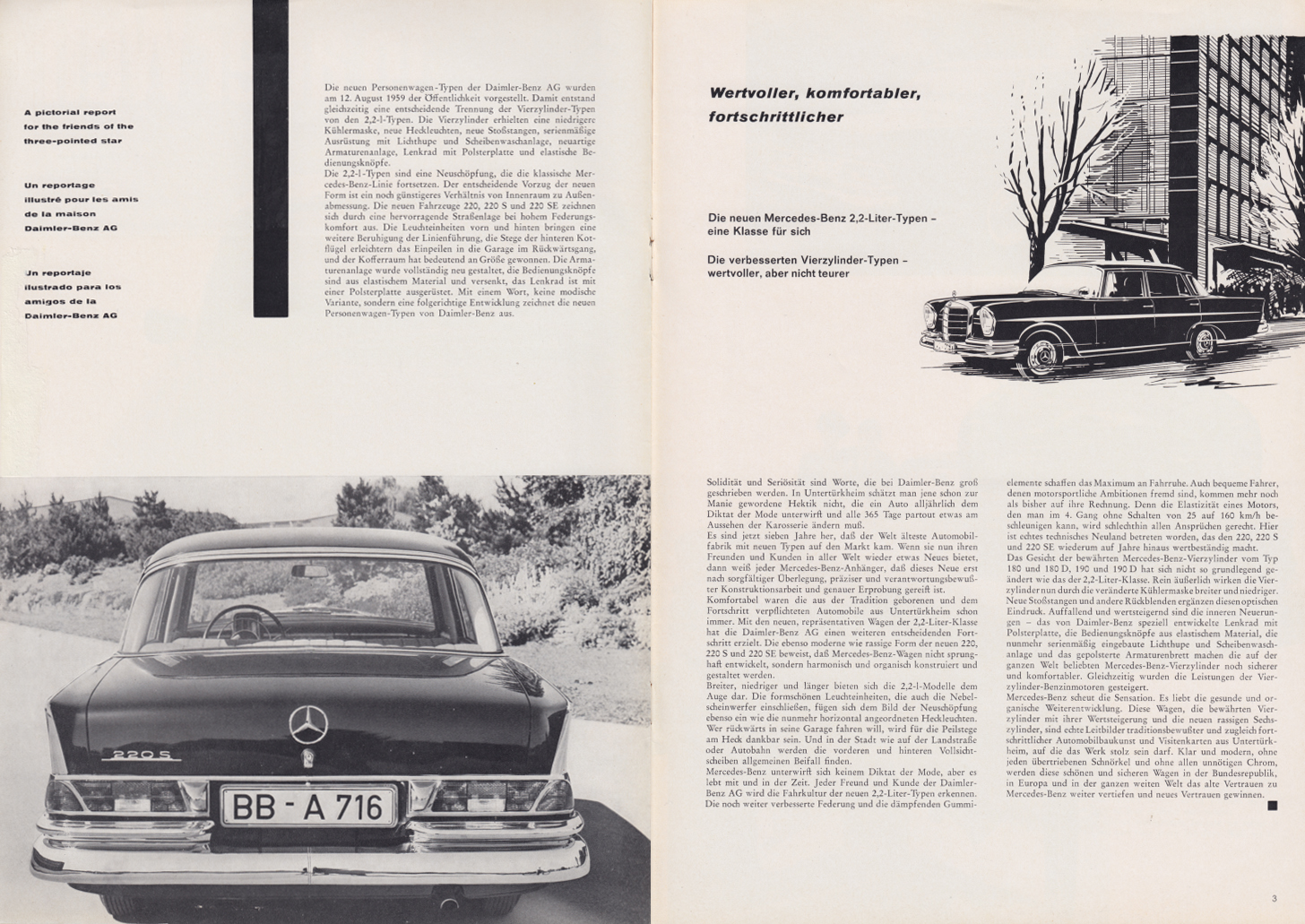 (REVISTA): Periódico In aller welt n.º 34 - Mercedes-Benz no mundo - 1959 - multilingue 002