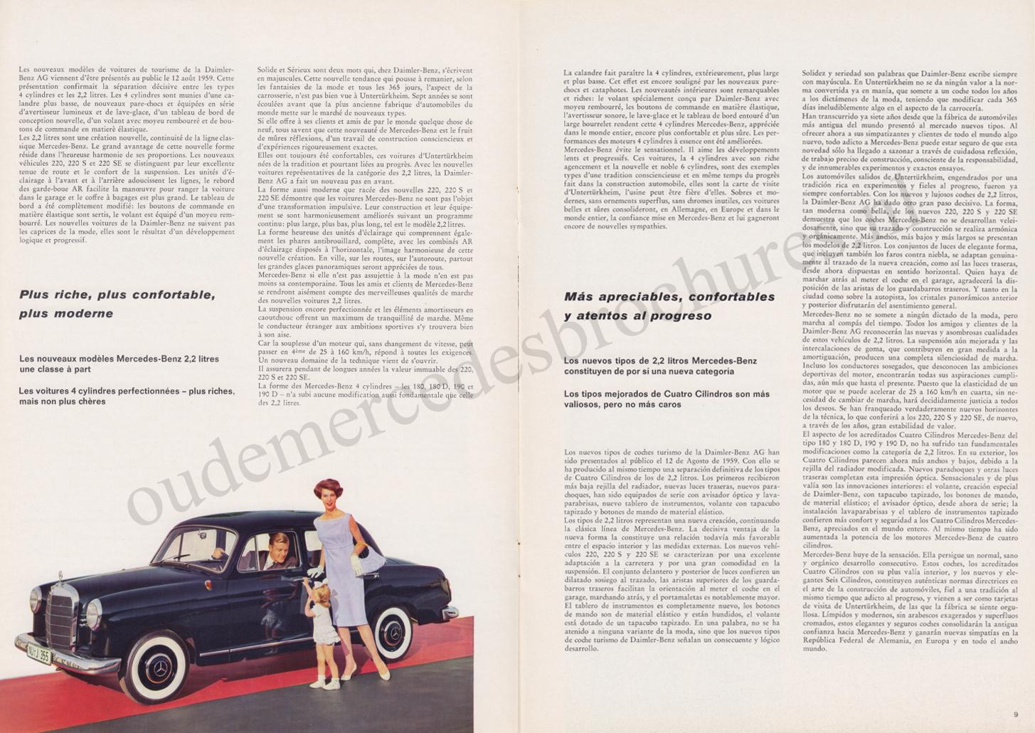 (REVISTA): Periódico In aller welt n.º 34 - Mercedes-Benz no mundo - 1959 - multilingue 005
